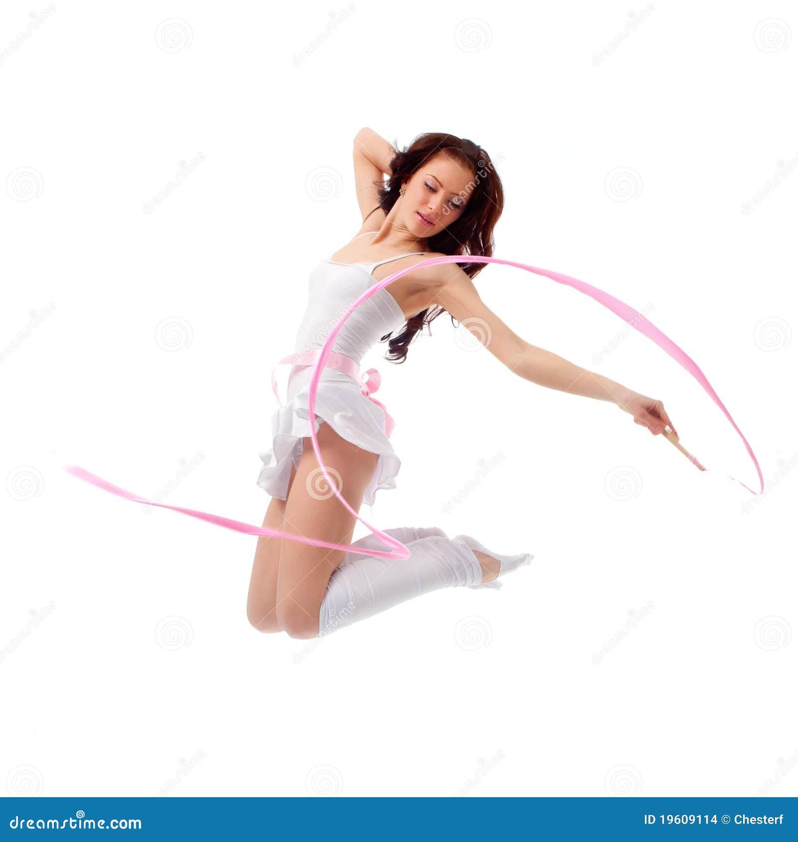 Dancingowa tasiemkowa kobieta
