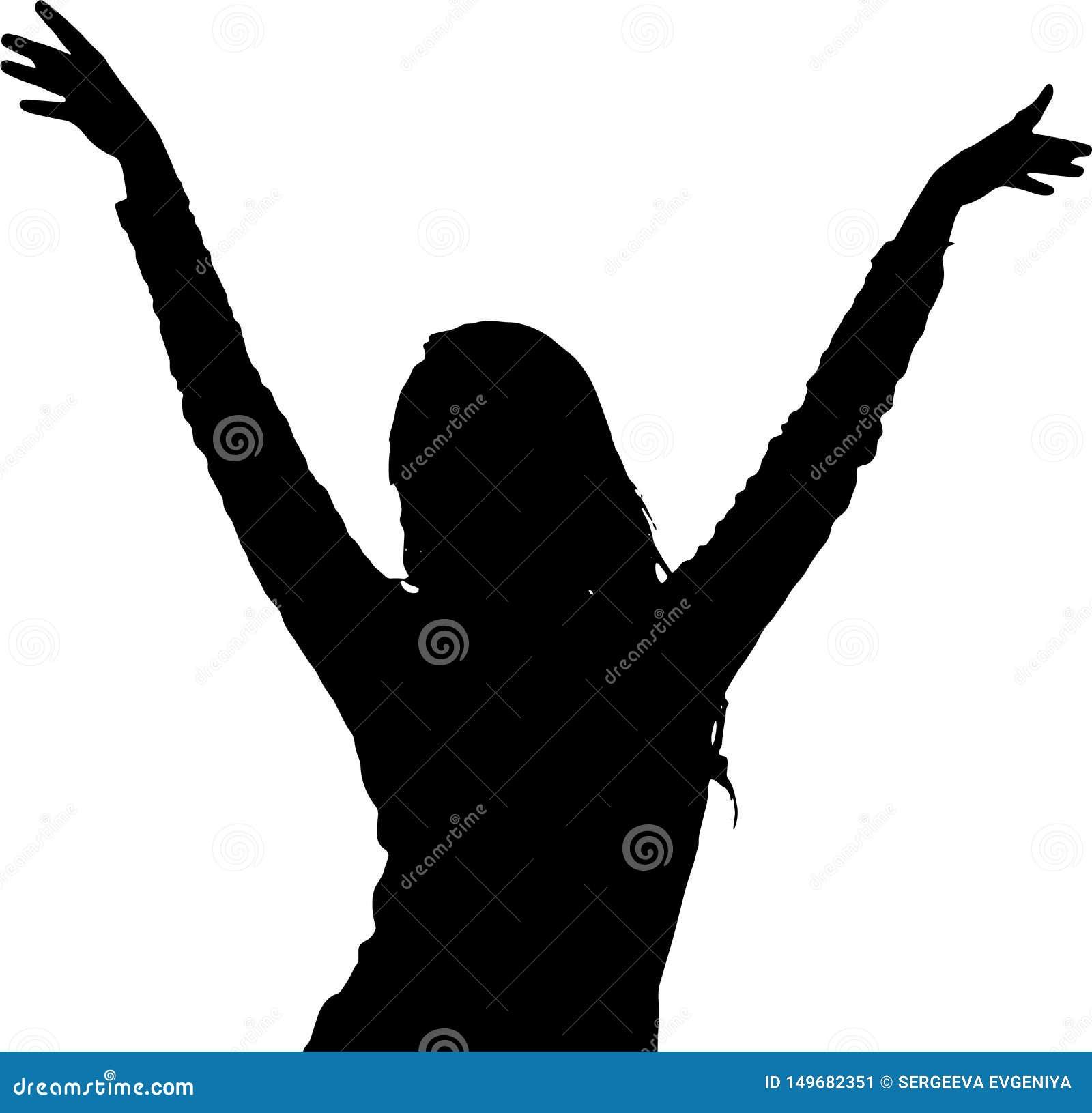 Dancingowej dziewczyny sylwetek cienia modela posta?