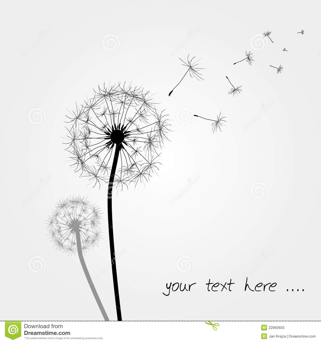 dandelions blowing the wind coloring pages | Dandelions Blowing In The Wind Tattoo