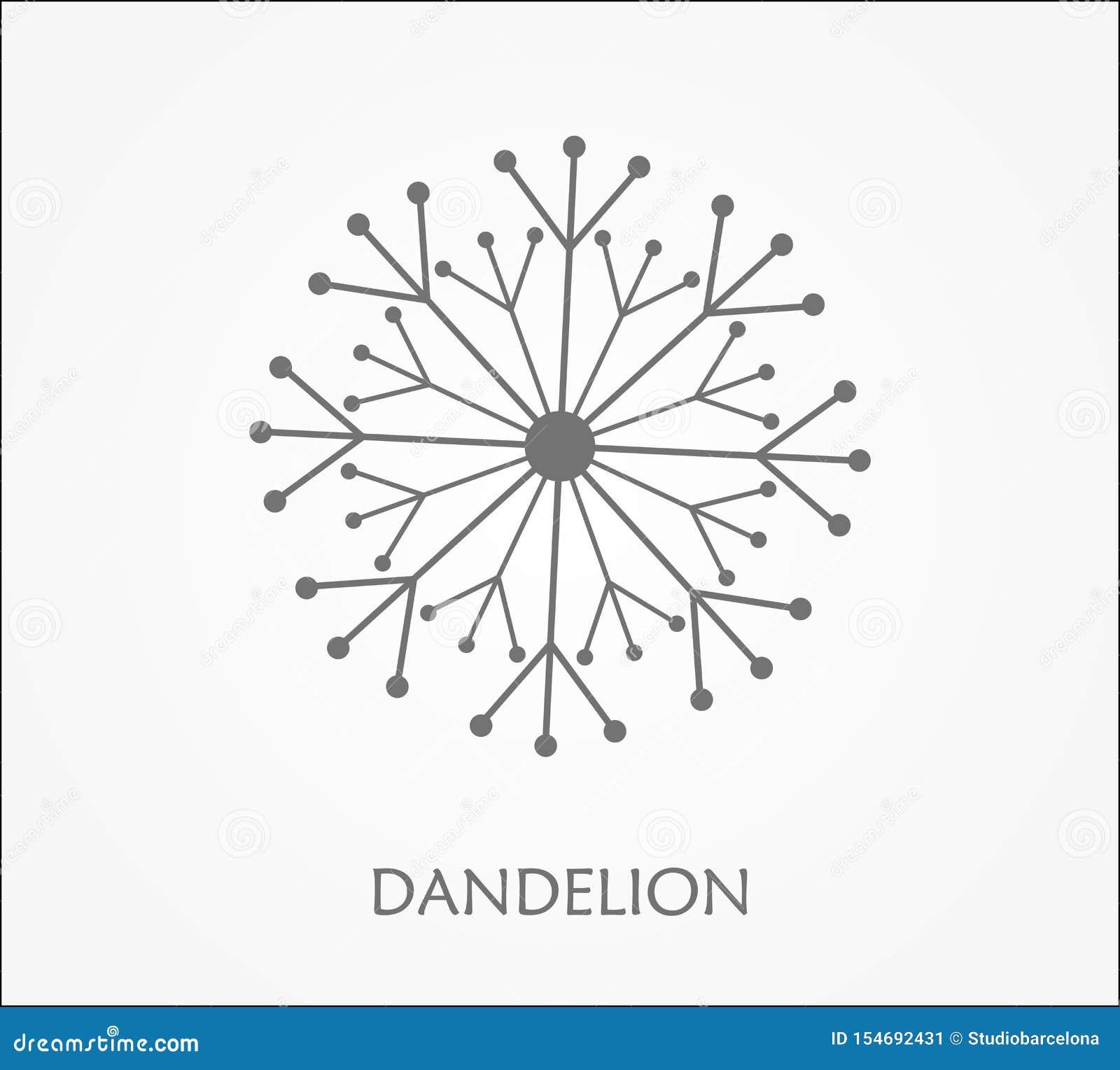 Dandelion Flower Symbol Stock Vector Illustration Of Meadow