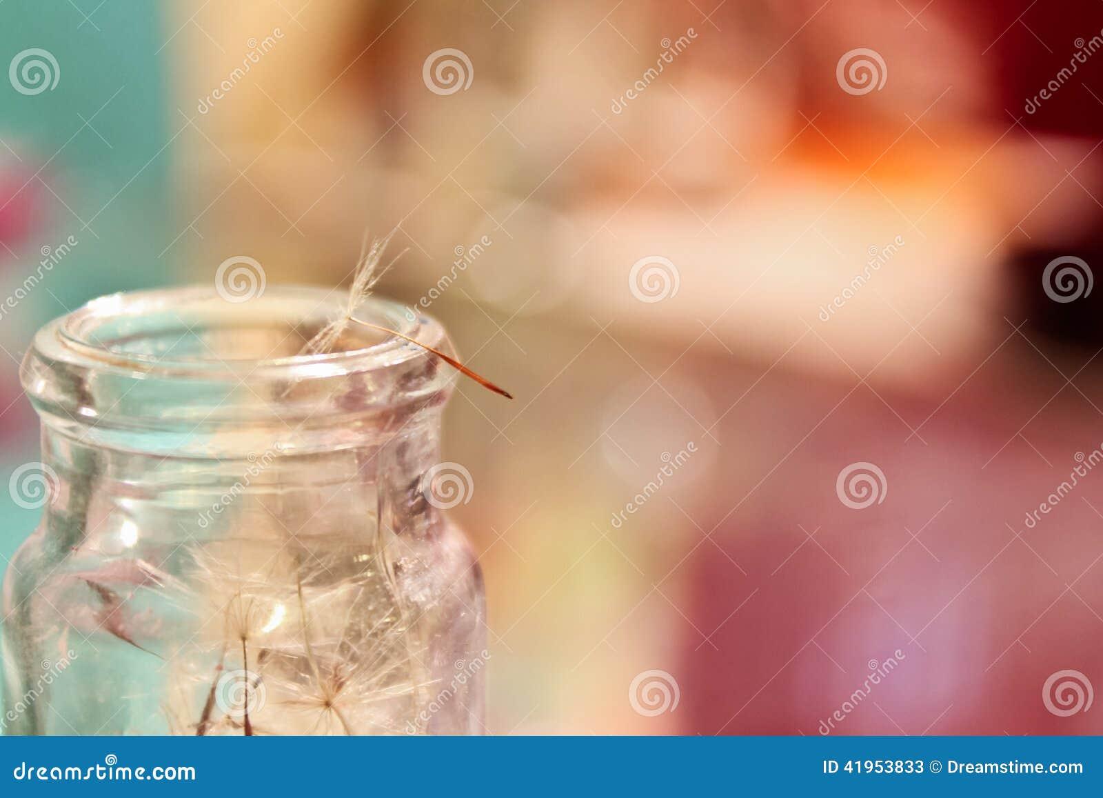 Dandelion ziarno Na Starym słoju
