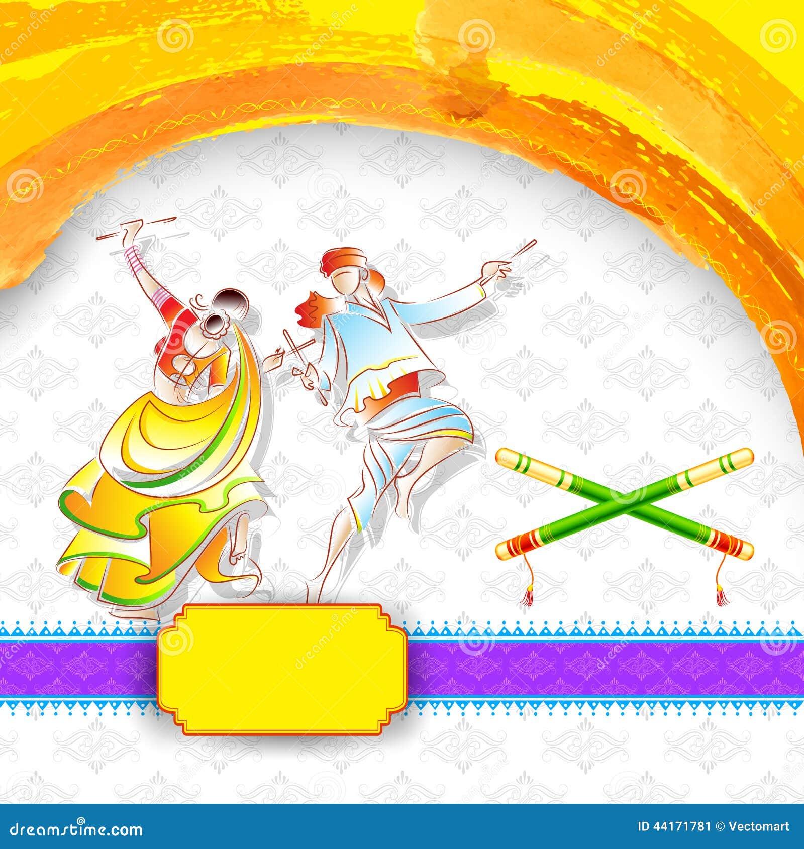 dandiya night poster stock vector illustration of girl
