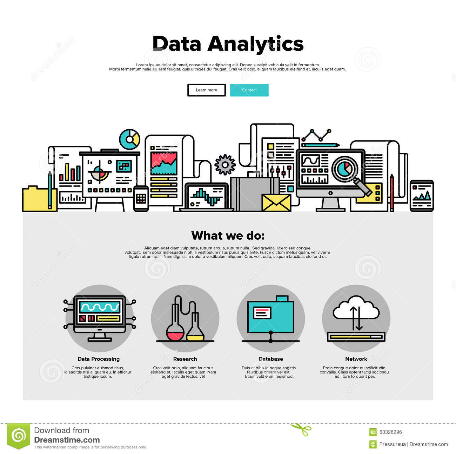 Dane analityka mieszkania linii sieci grafika