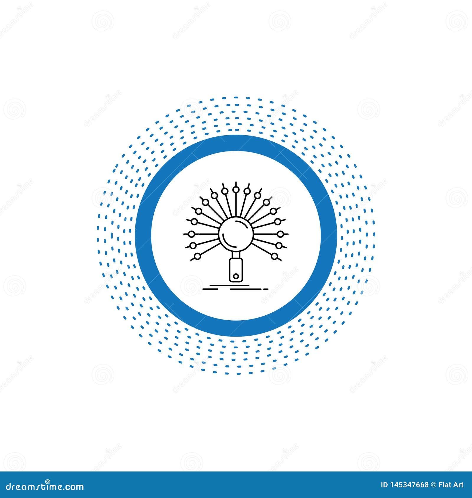 Dane, informacja, informational, sie?, odratowanie Kreskowa ikona Wektor odosobniona ilustracja