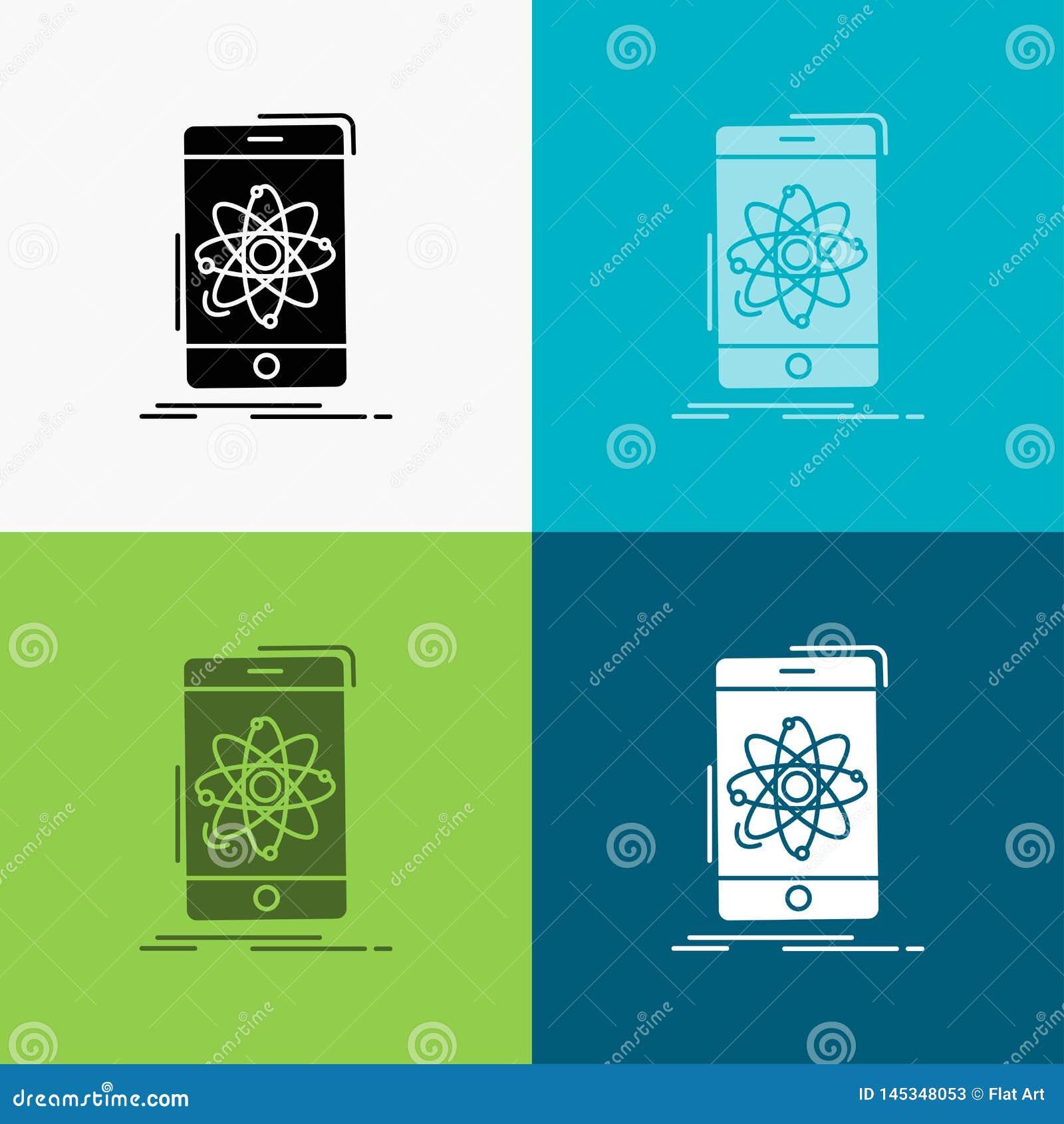 Dane, informacja, wisząca ozdoba, badanie, nauki ikona Nad Różnorodnym tłem glifu stylu projekt, projektuj?cy dla sieci i app 10