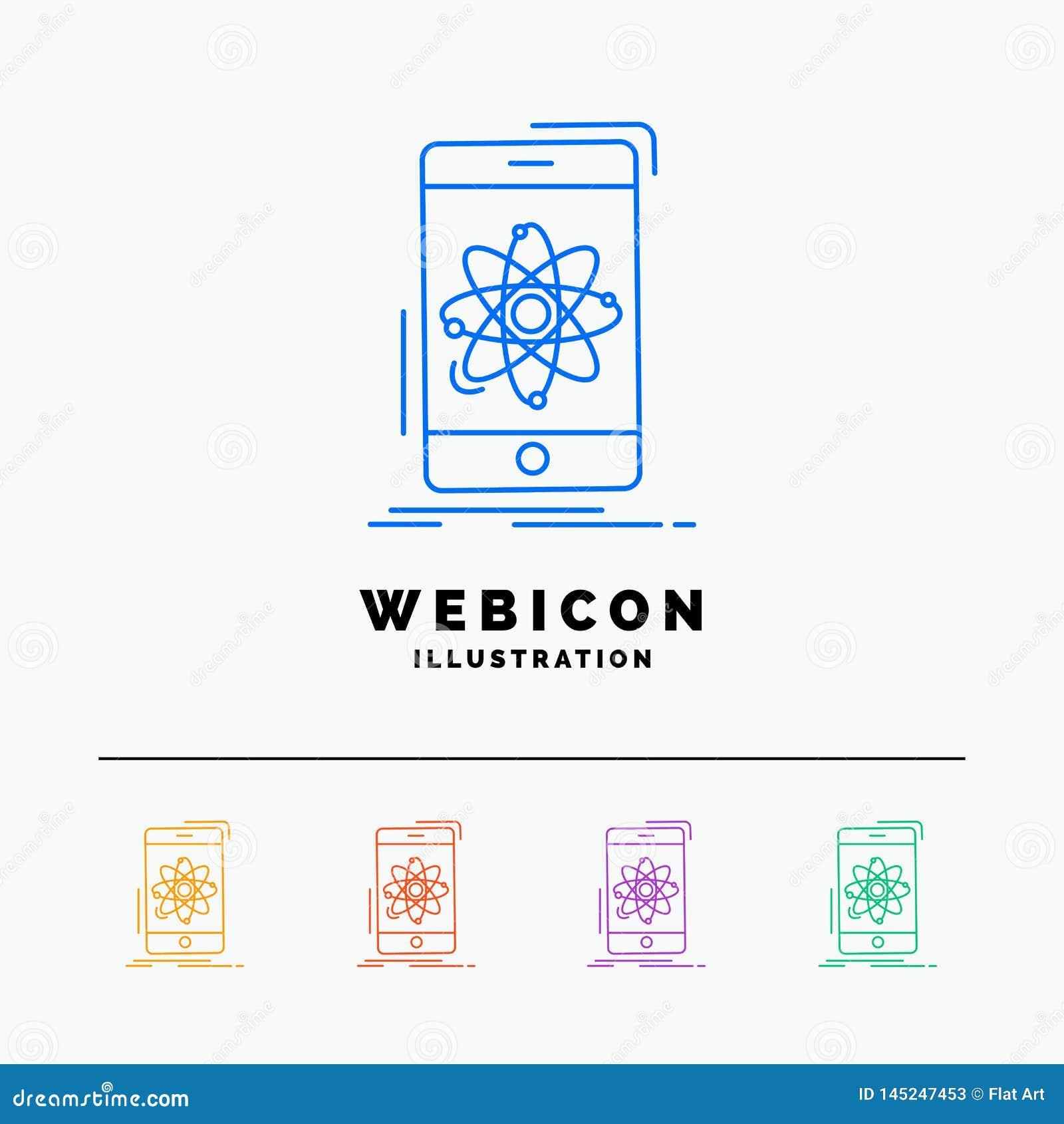 Dane, informacja, wisząca ozdoba, badanie, nauki 5 koloru linii sieci ikony szablon odizolowywający na bielu r?wnie? zwr?ci? core