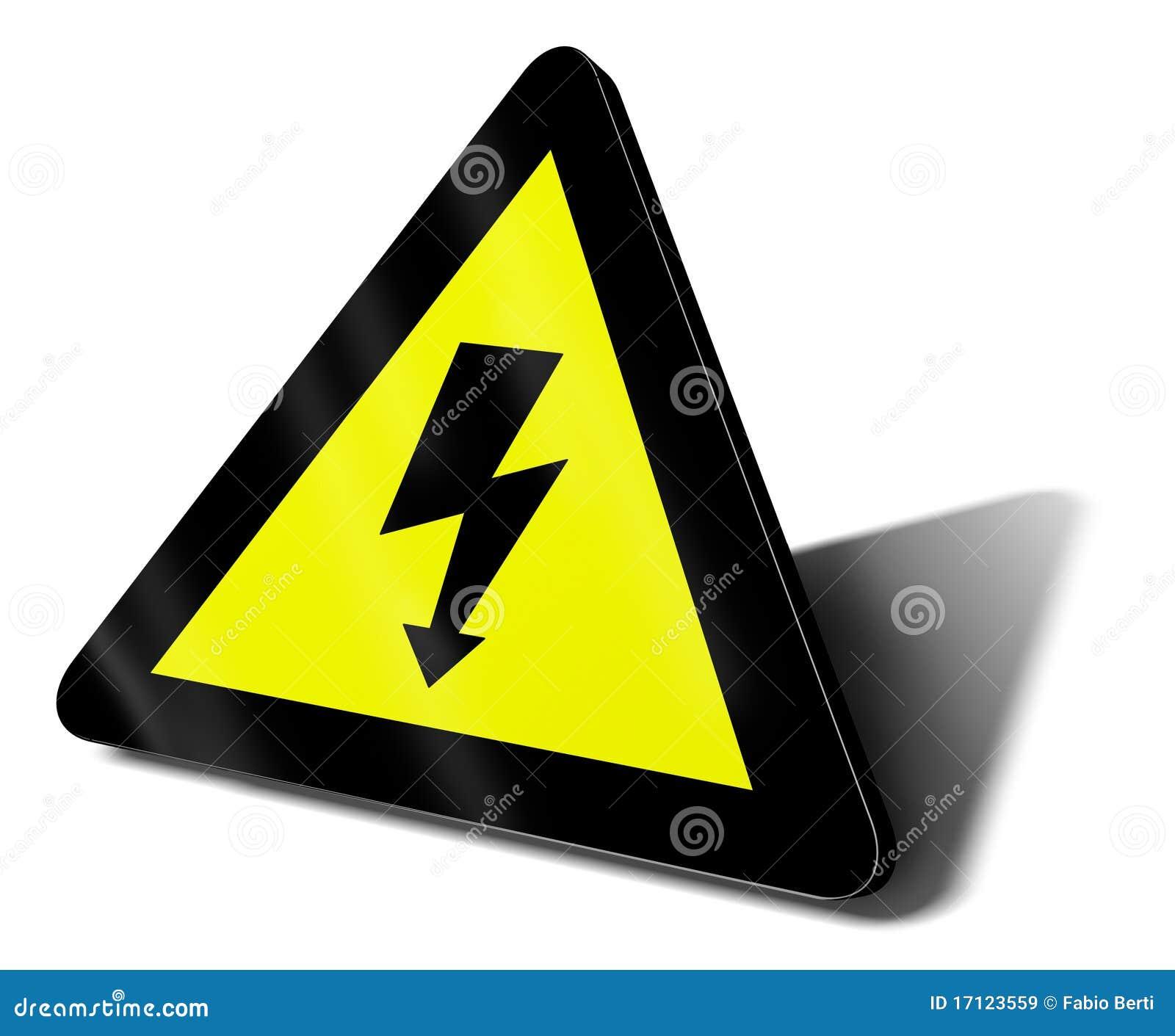 Danger électrique de signal d avertissement