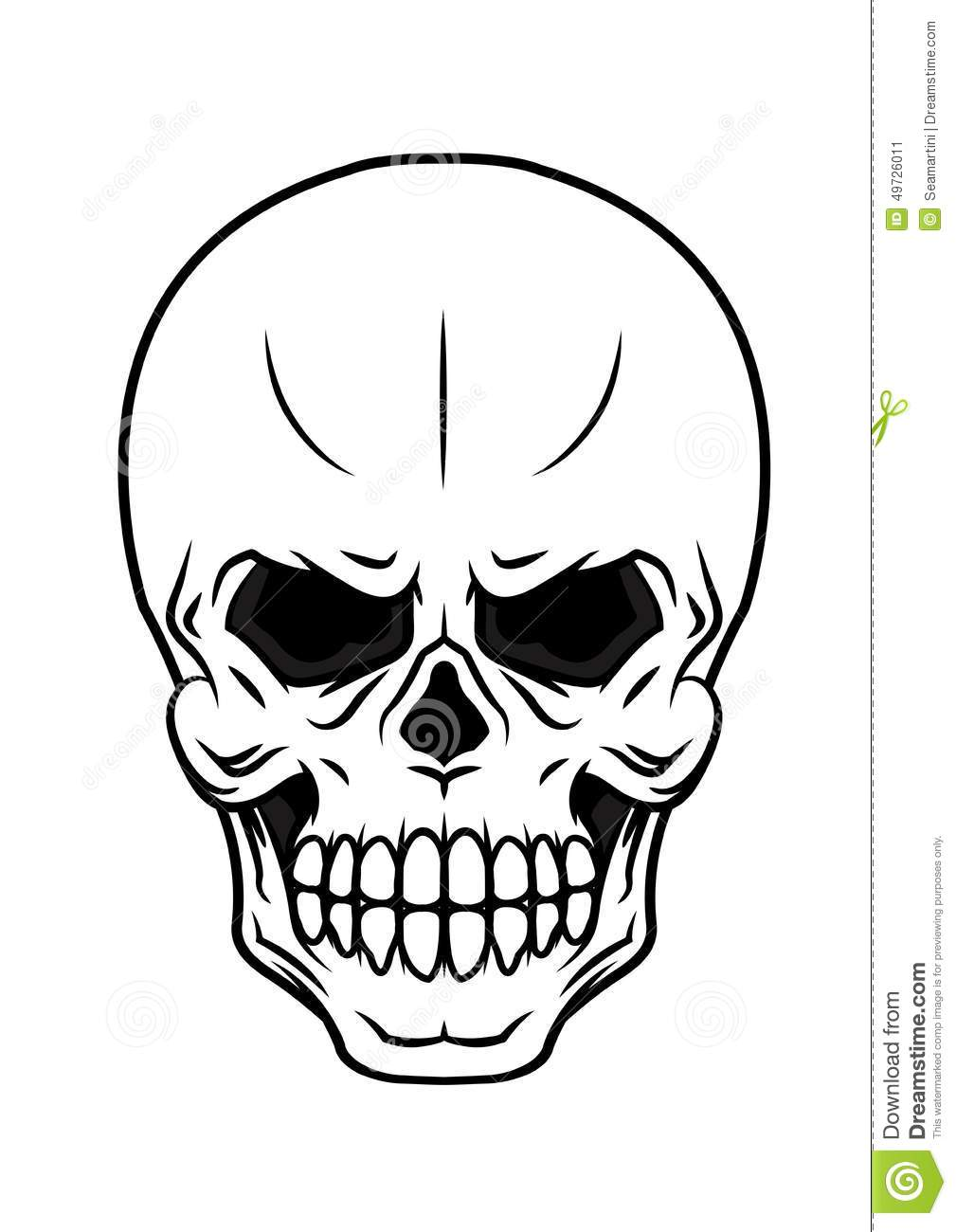 Danger Cartoon Skull Stock Vector - Image: 49726011
