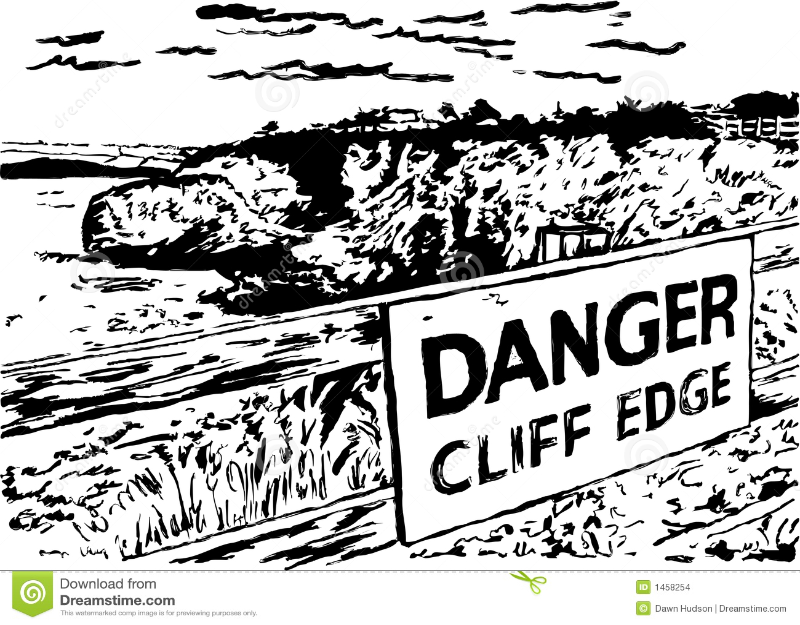 Danger Cliff Edge Stock Images Image 1458254