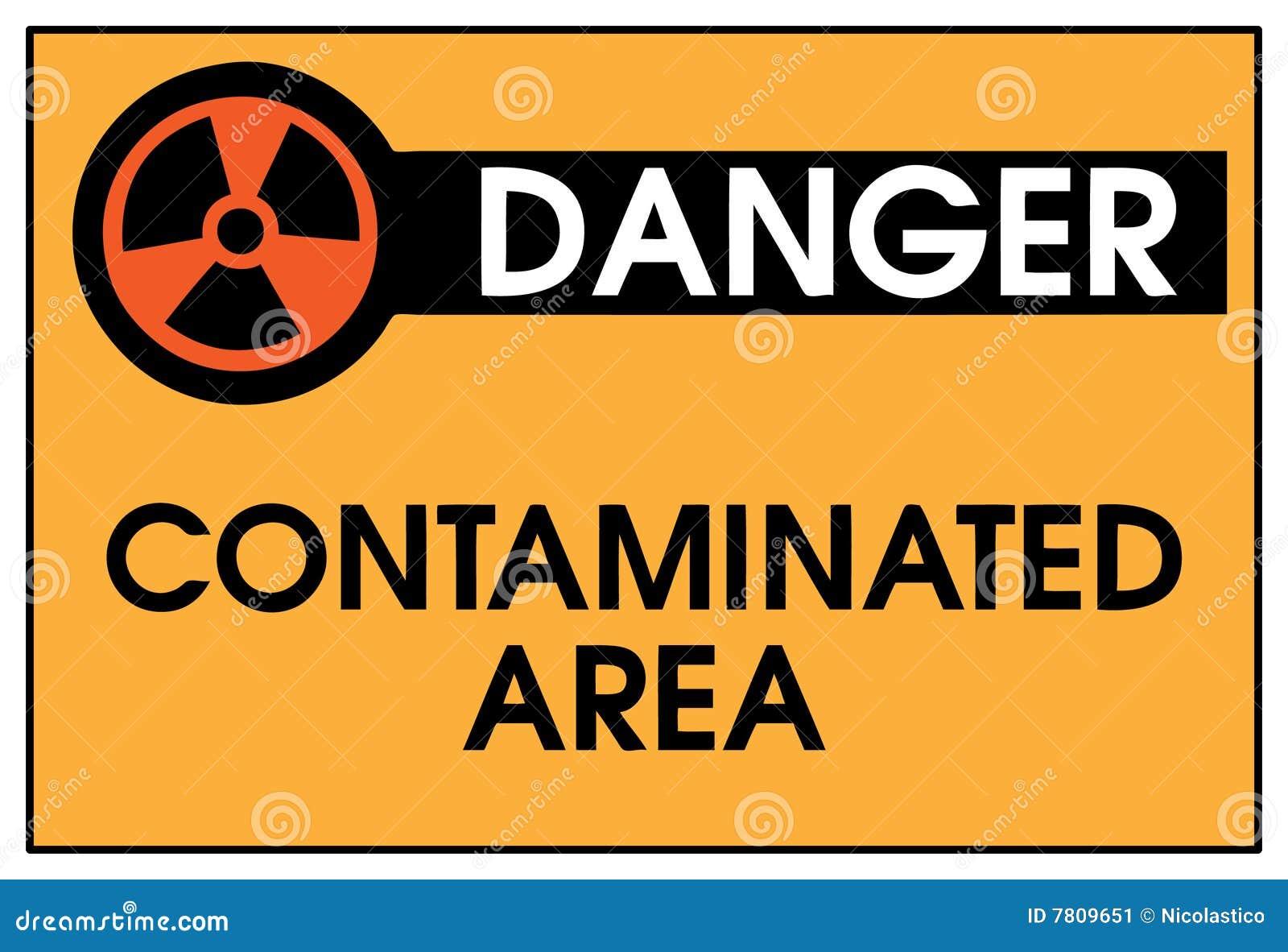Danger Contaminated Area Stock Image Image 7809651