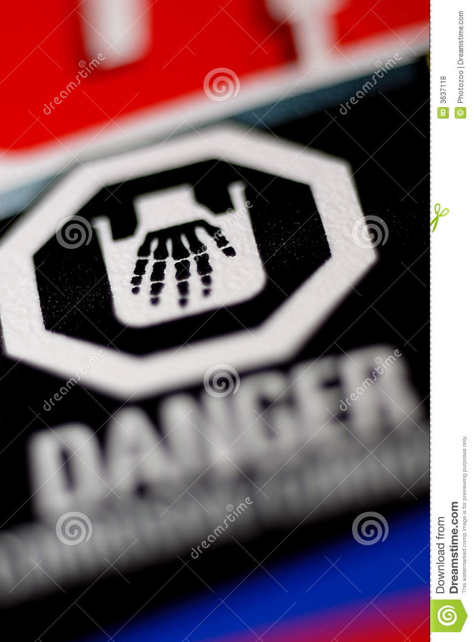 Danger Corrosive Label Skeletal Hand Stock Photo Image Of Danger