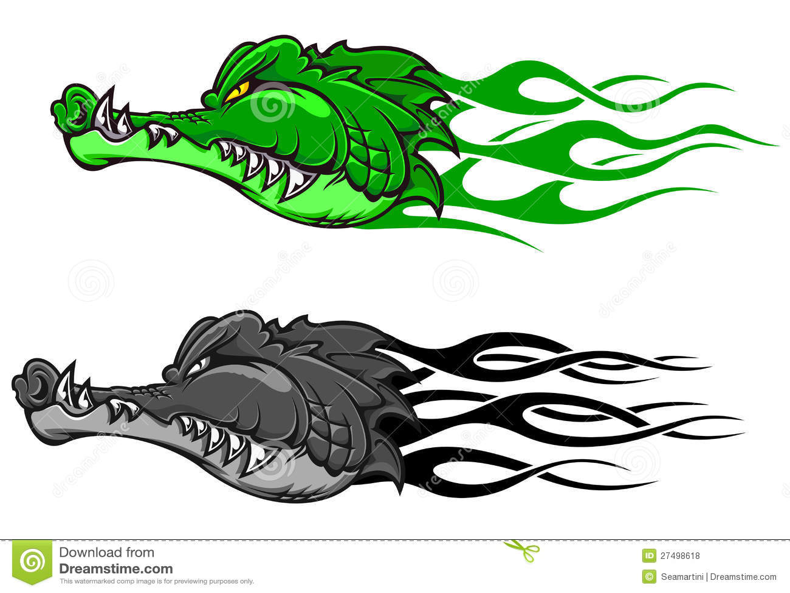 Danger crocodile tattoo