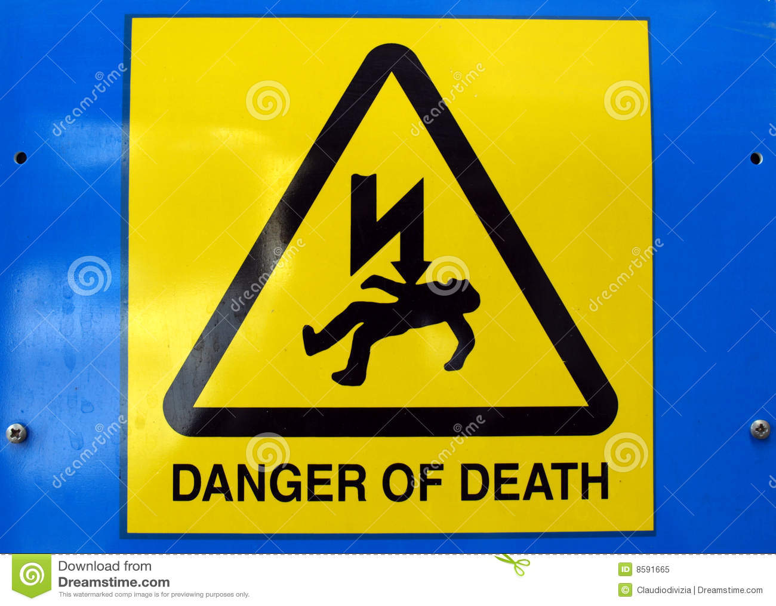Danger of death electric shock stock image image of danger symbol danger of death electric shock buycottarizona Images