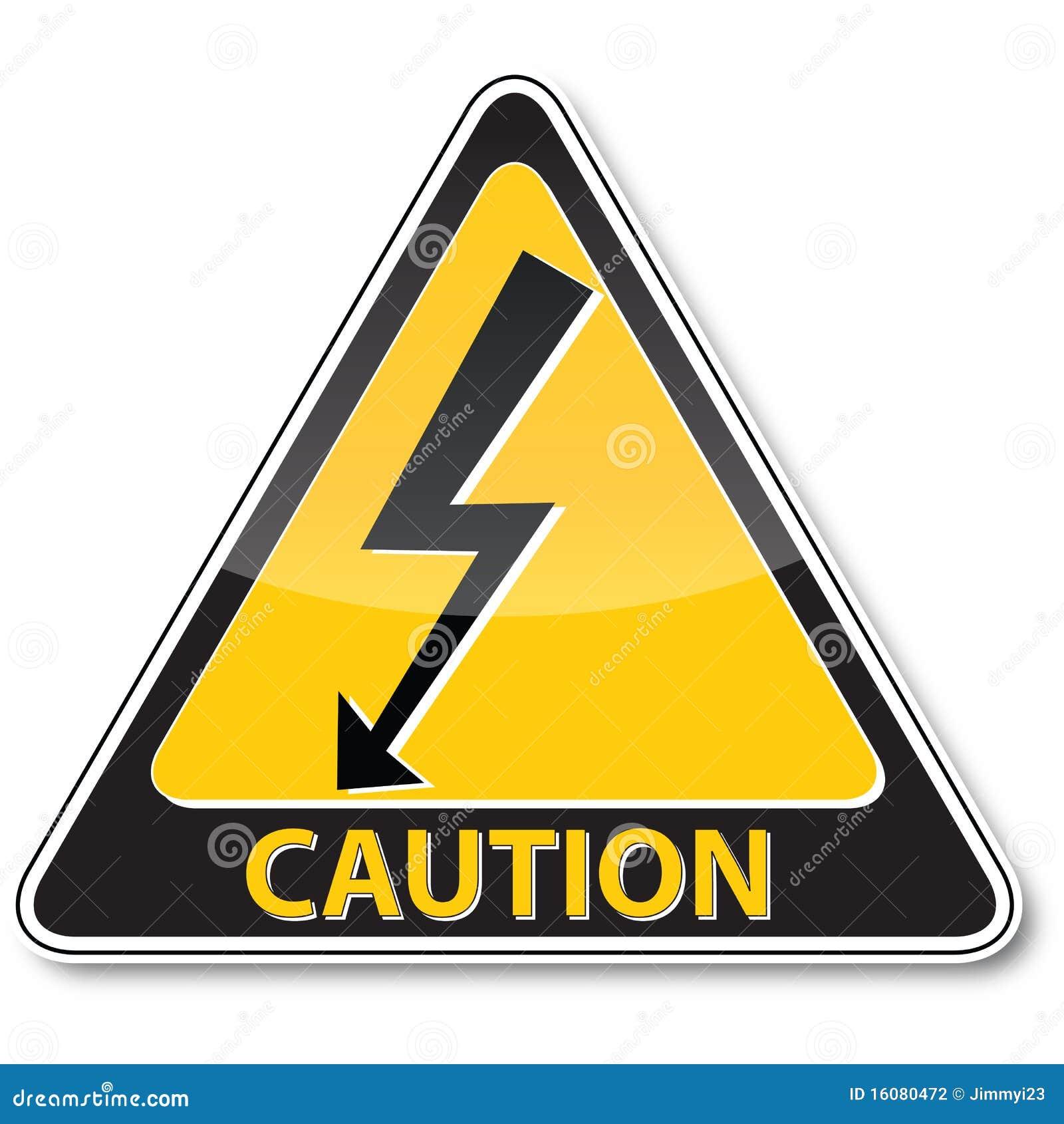 Danger electric shock risk sign stock vector illustration of danger electric shock risk sign buycottarizona Images