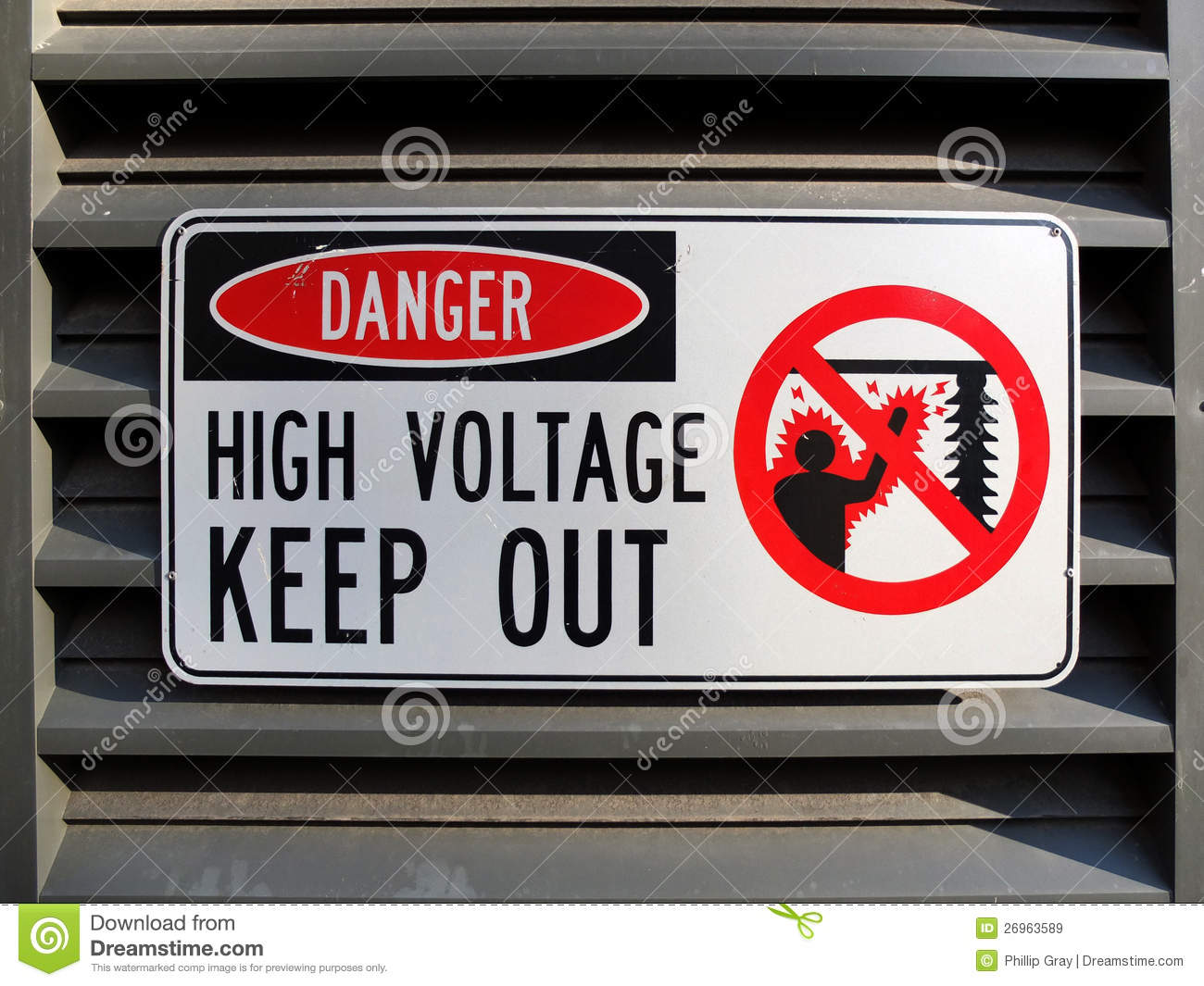 Danger High Voltage stock image. Image of electric, sign - 26963589