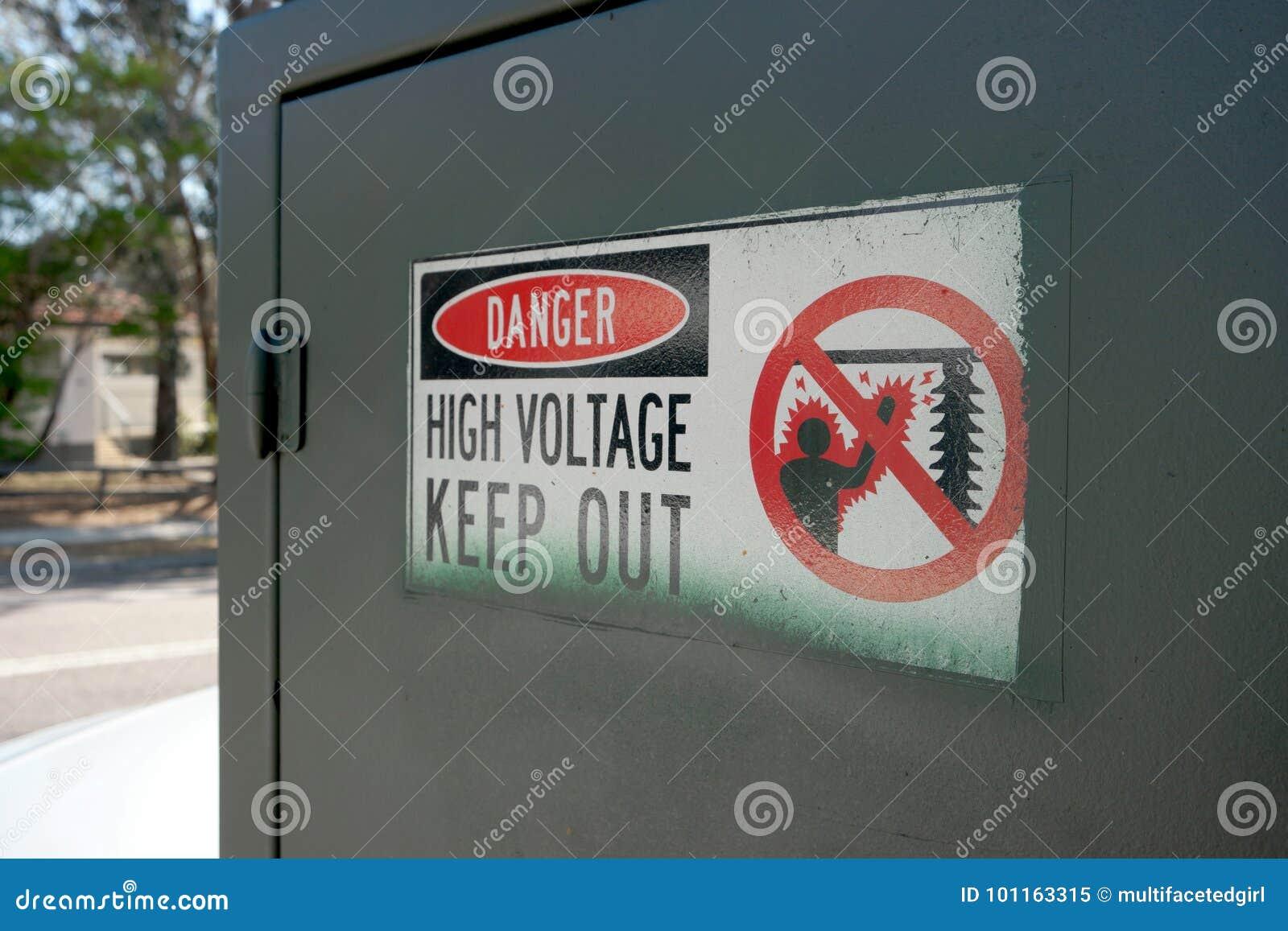 Danger high voltage sign stock image. Image of transformer - 101163315