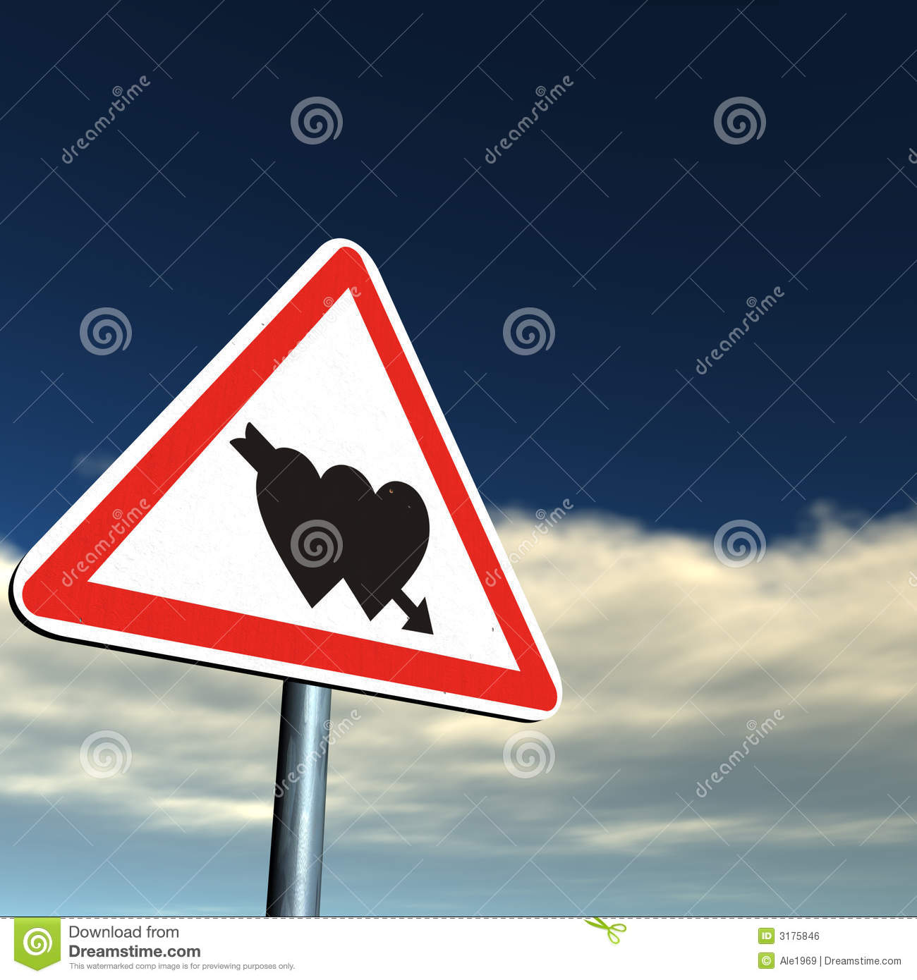 danger love ahead royalty free stock image image 3175846