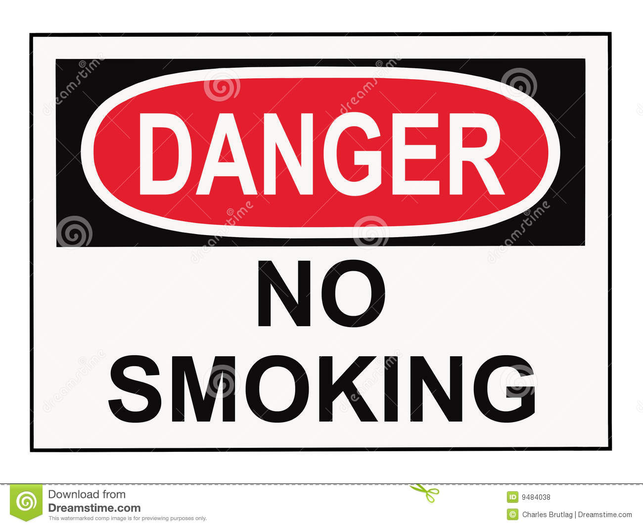 Danger No Smoking Sign Royalty Free Stock Photos - Image: 9484038