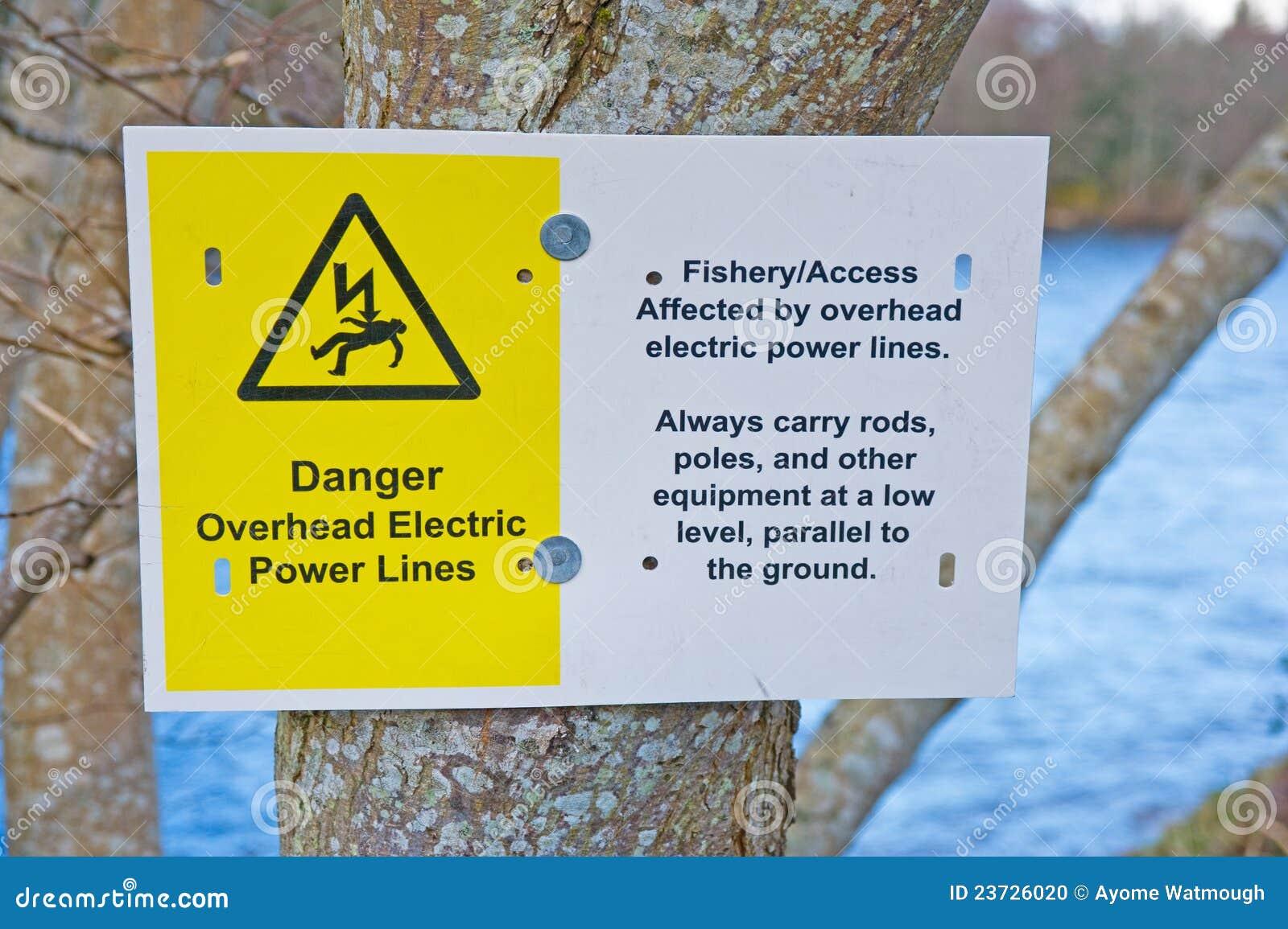 Danger notice for fishermen.