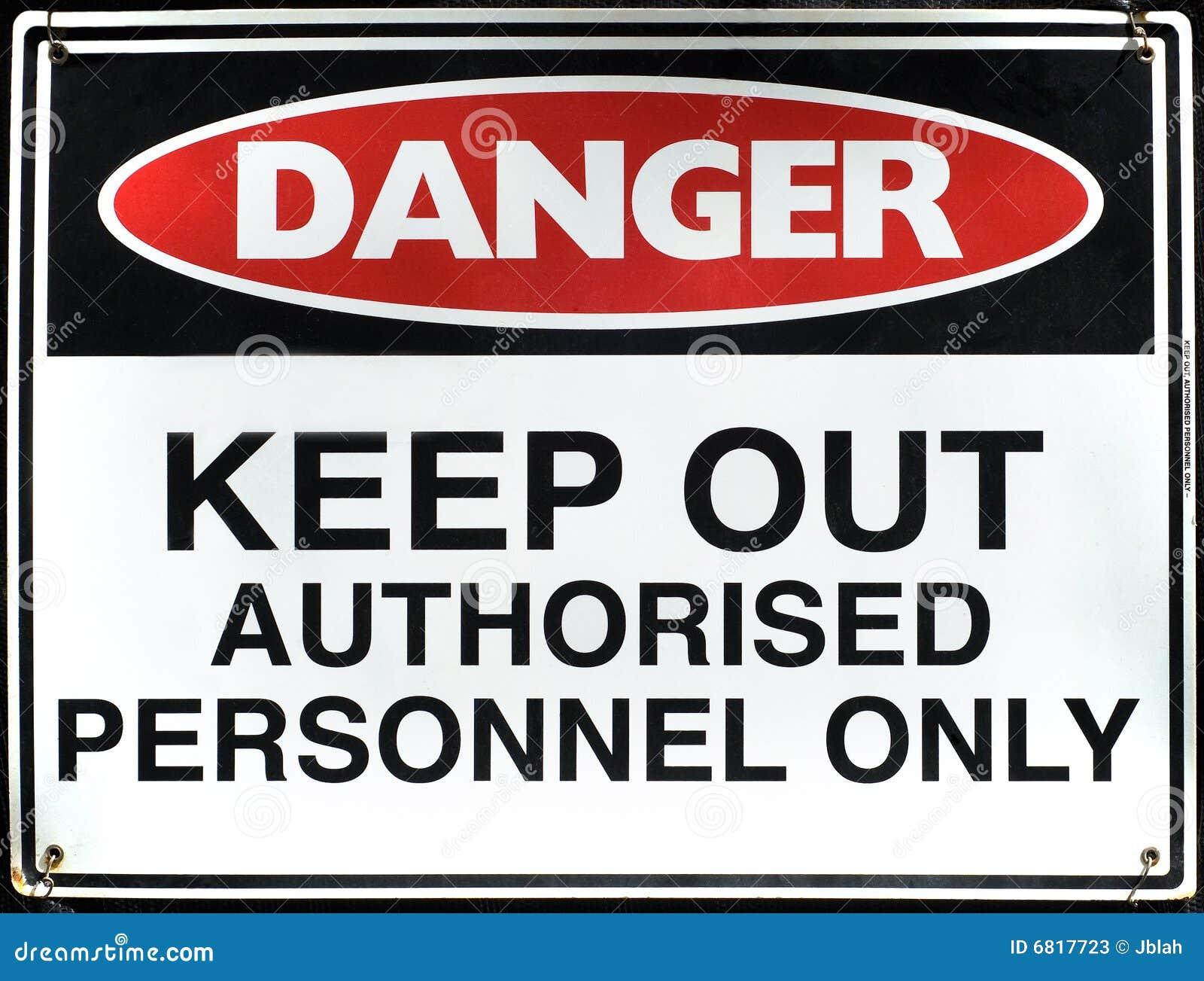 Danger sign stock image. Image of authorised, hazardous ...