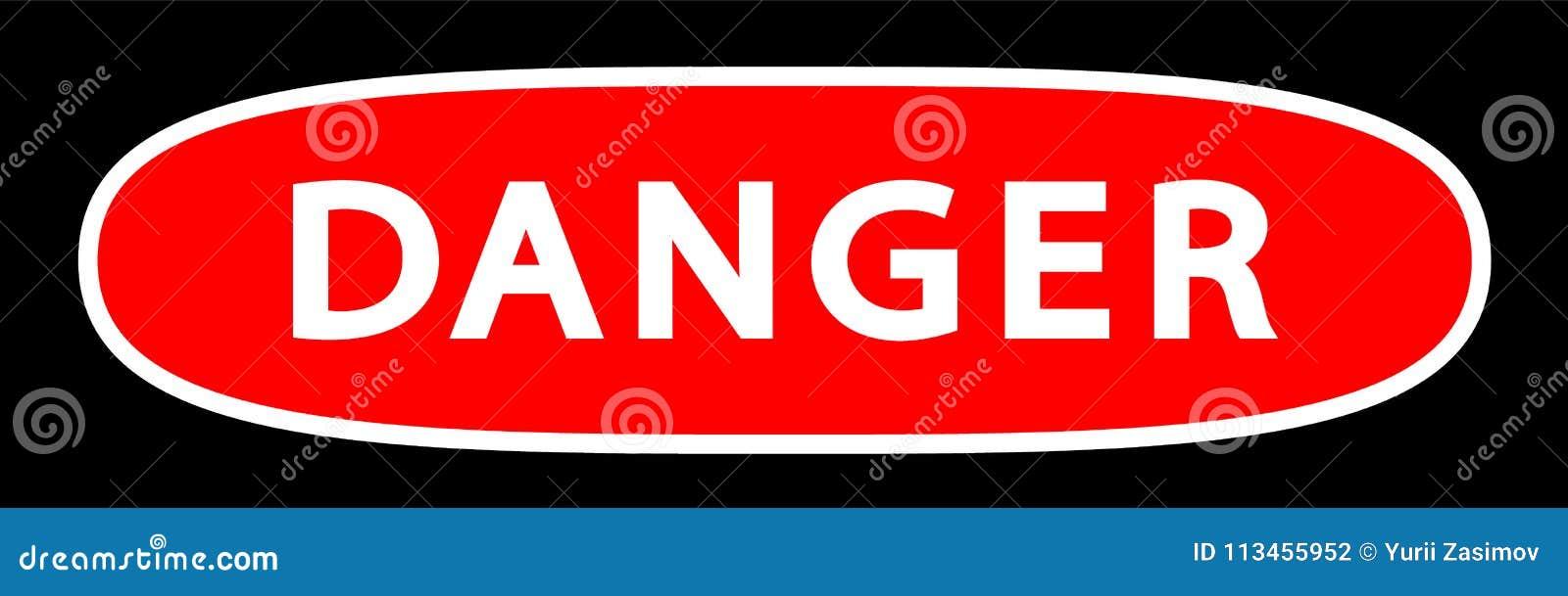 Danger Sign vector Illustration  Stock Vector - Illustration of