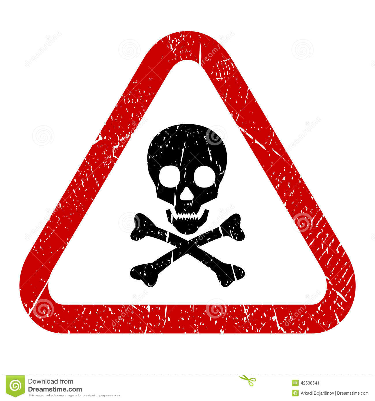 Danger Skull Icon Stock Vector - Image: 42538541