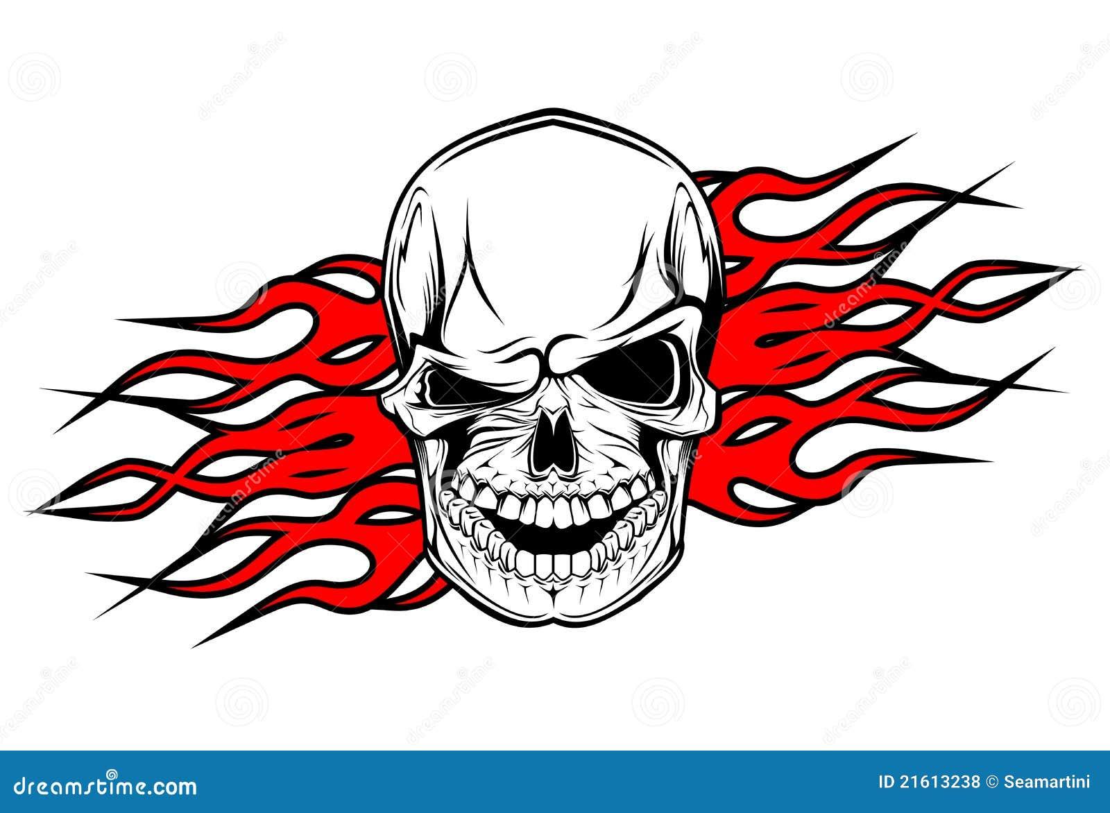 Danger skull tattoo stock vector illustration of evil 21613238 danger skull tattoo voltagebd Gallery