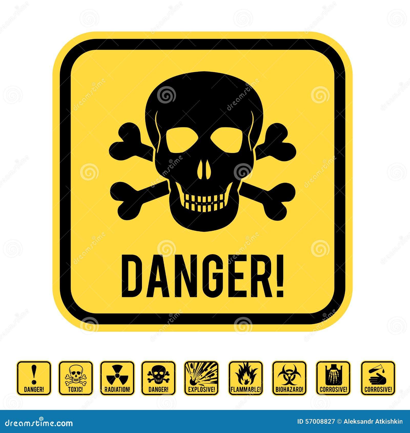 Danger skull stock vector  Illustration of electricity