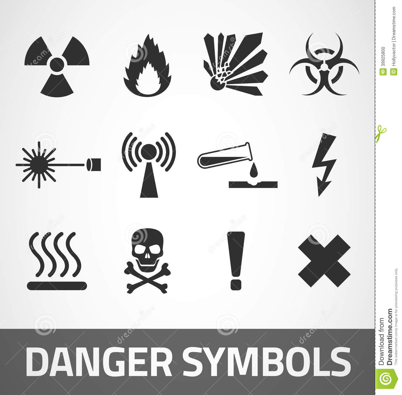 Danger Symbols Stock Vector Illustration Of Icon Flame 39925800