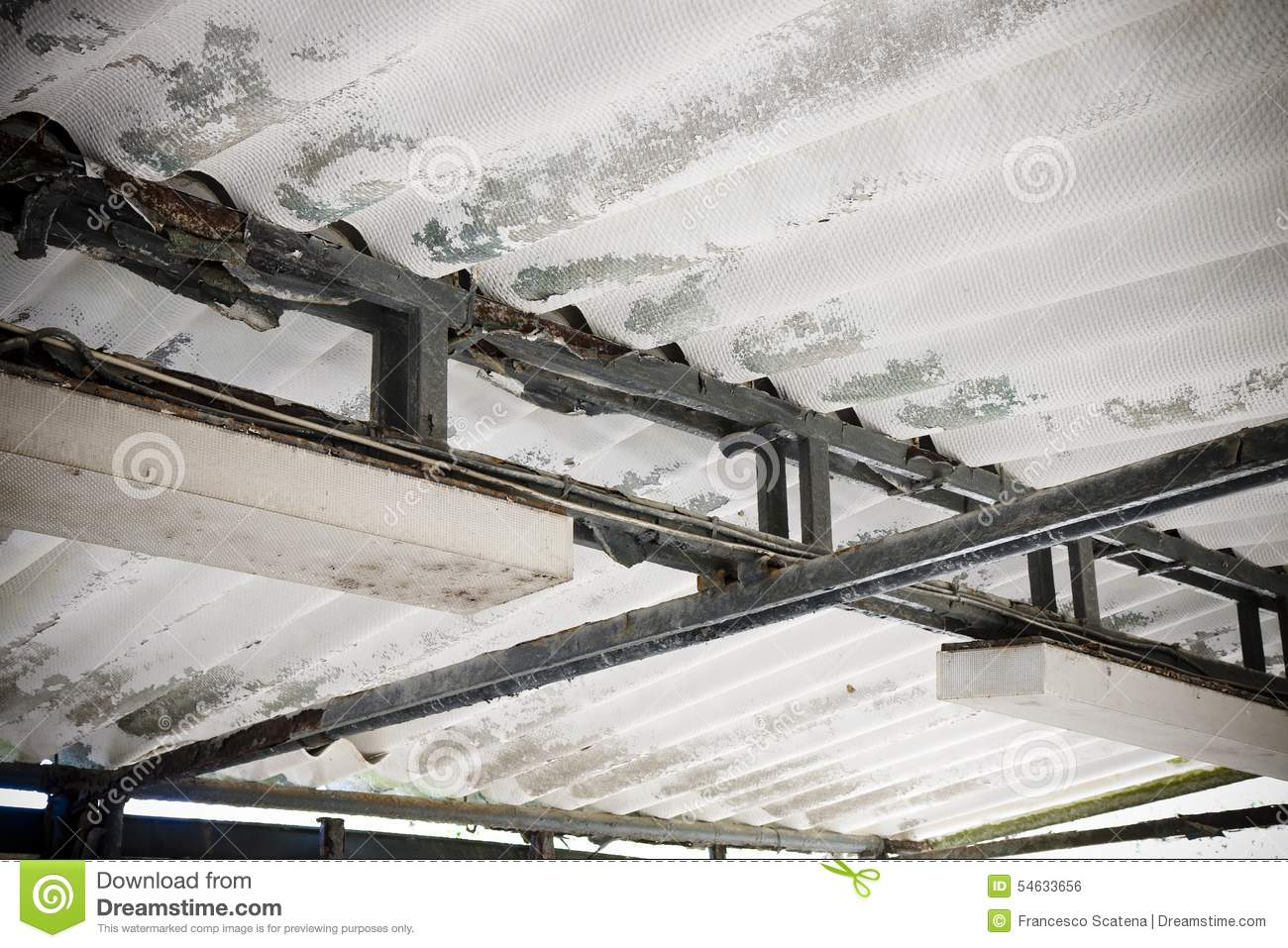 Dangerous asbestos roof stock photo  Image of fiber, lung