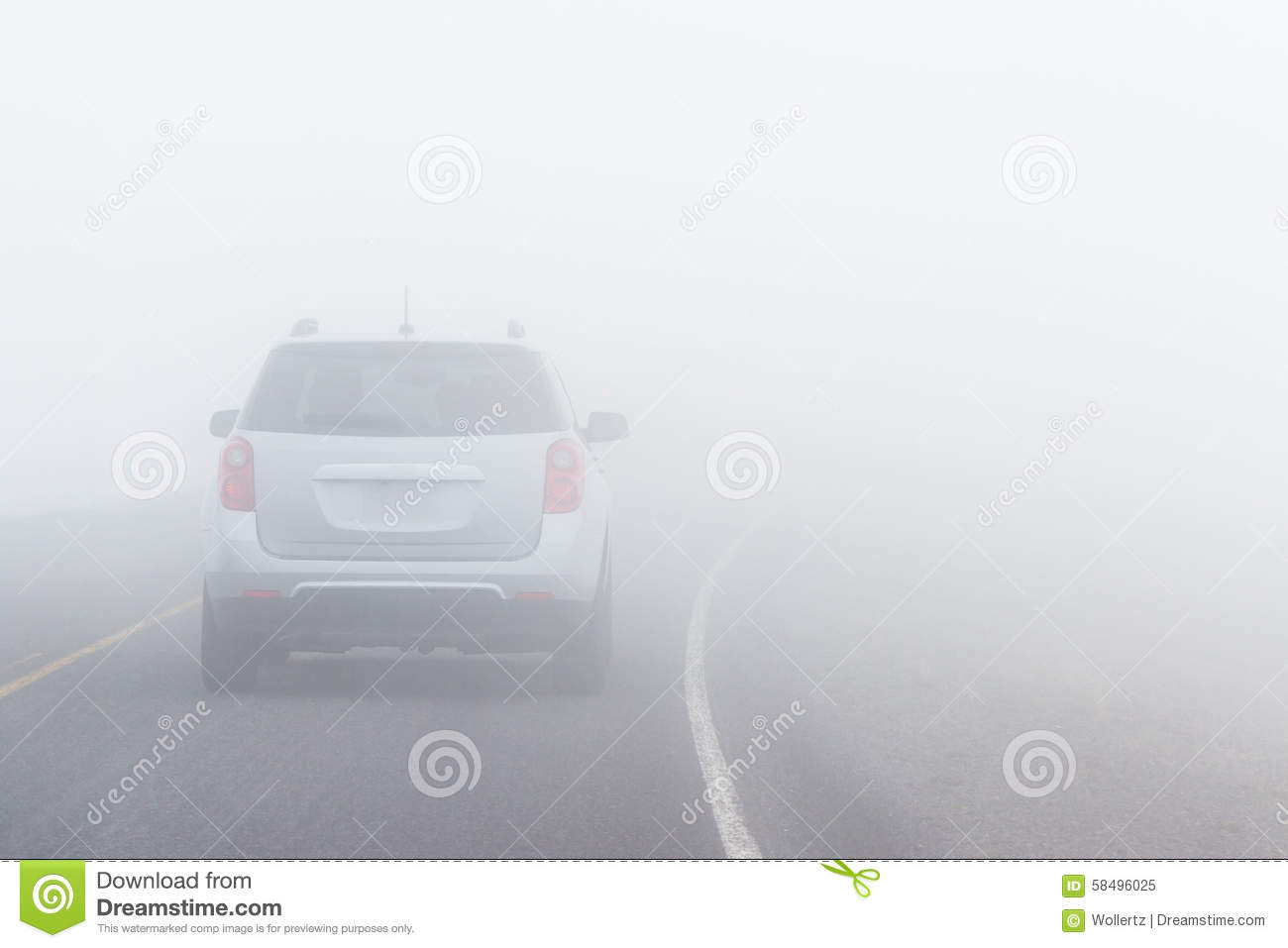 dangerous driving conditions stock image image of diving foggy 58496025. Black Bedroom Furniture Sets. Home Design Ideas