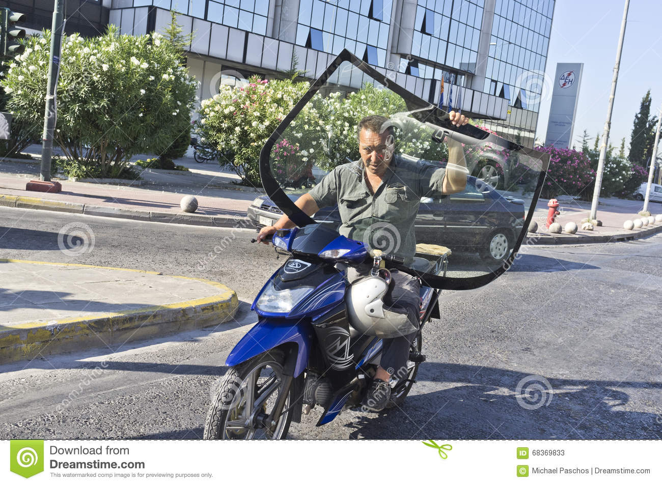 Dangerous Driving On Scooter Editorial Stock Photo - Image of