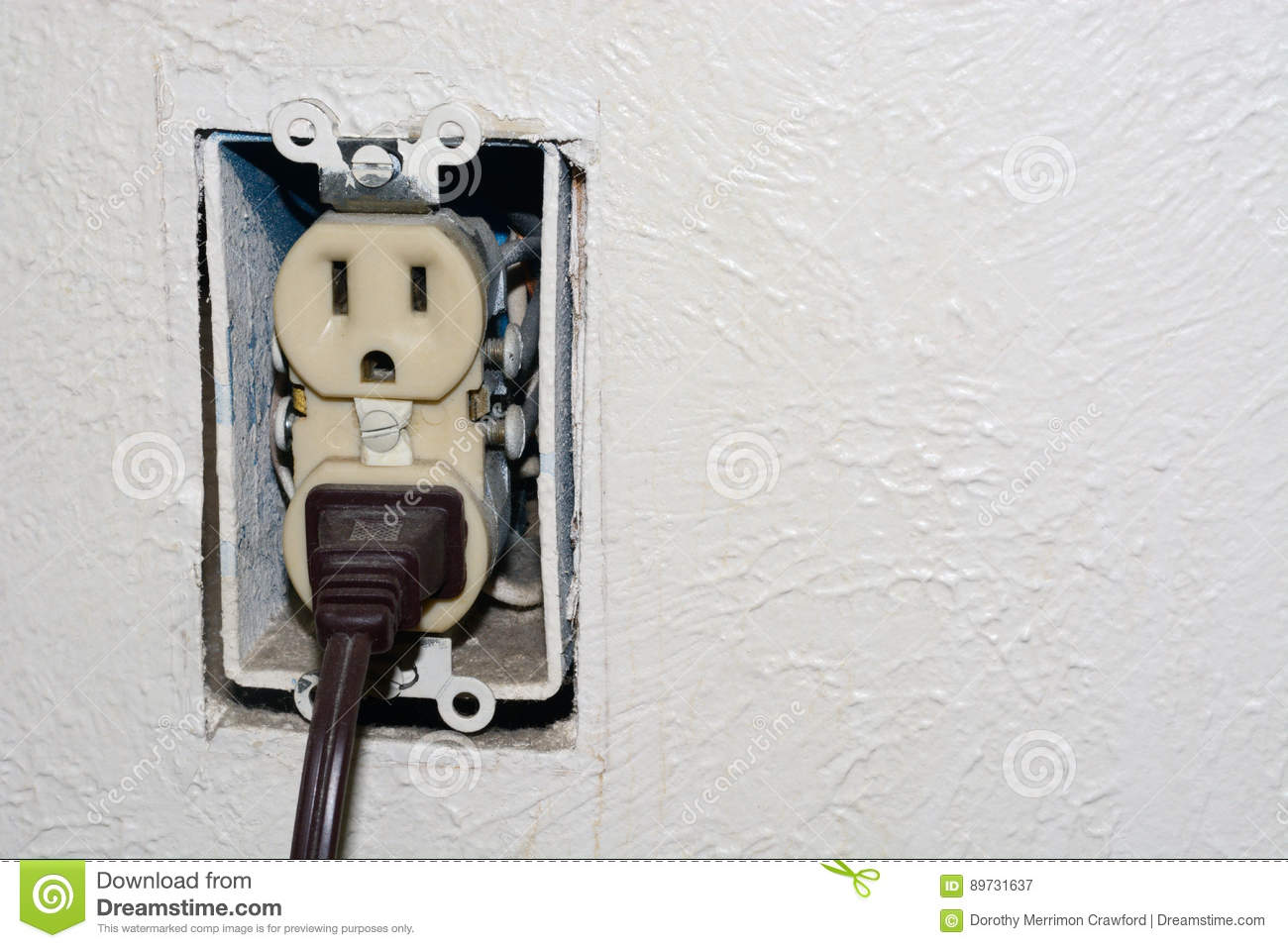 Dangerous Electrical Outlet Stock Image Of Wiring Electric