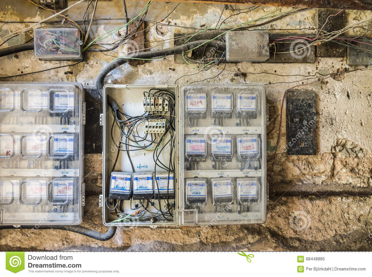 Dangerous Electrical Wiring Havana Editorial Image Of Cuban Circuit When Installing In A