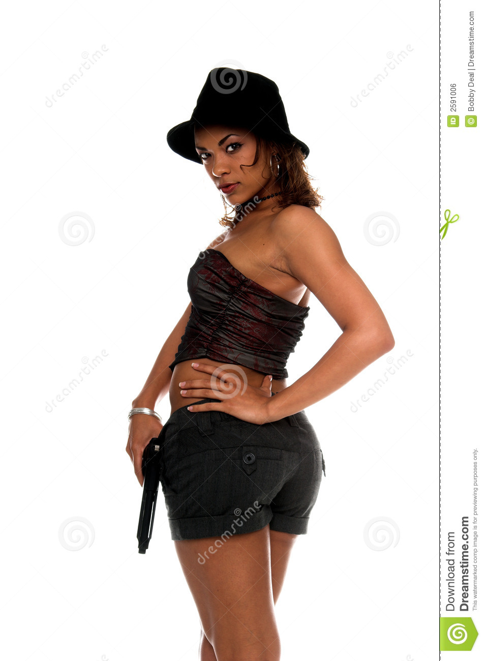 dangerous gangster girl royalty free stock image   image