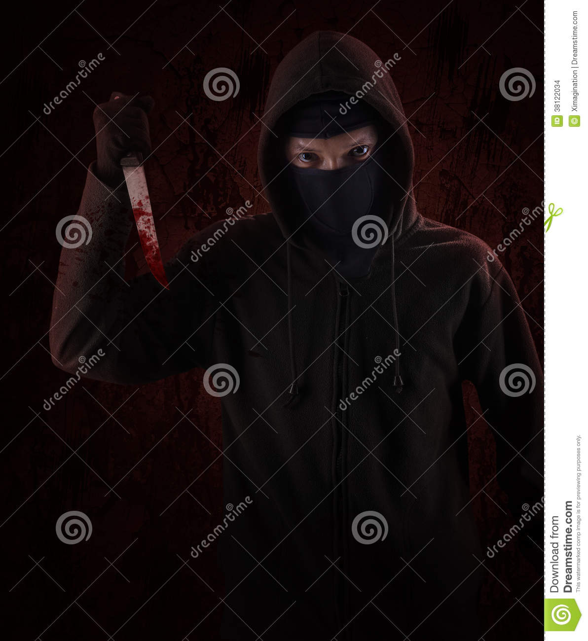 Dangerous Hooded Man Stock Images - Image: 38122034
