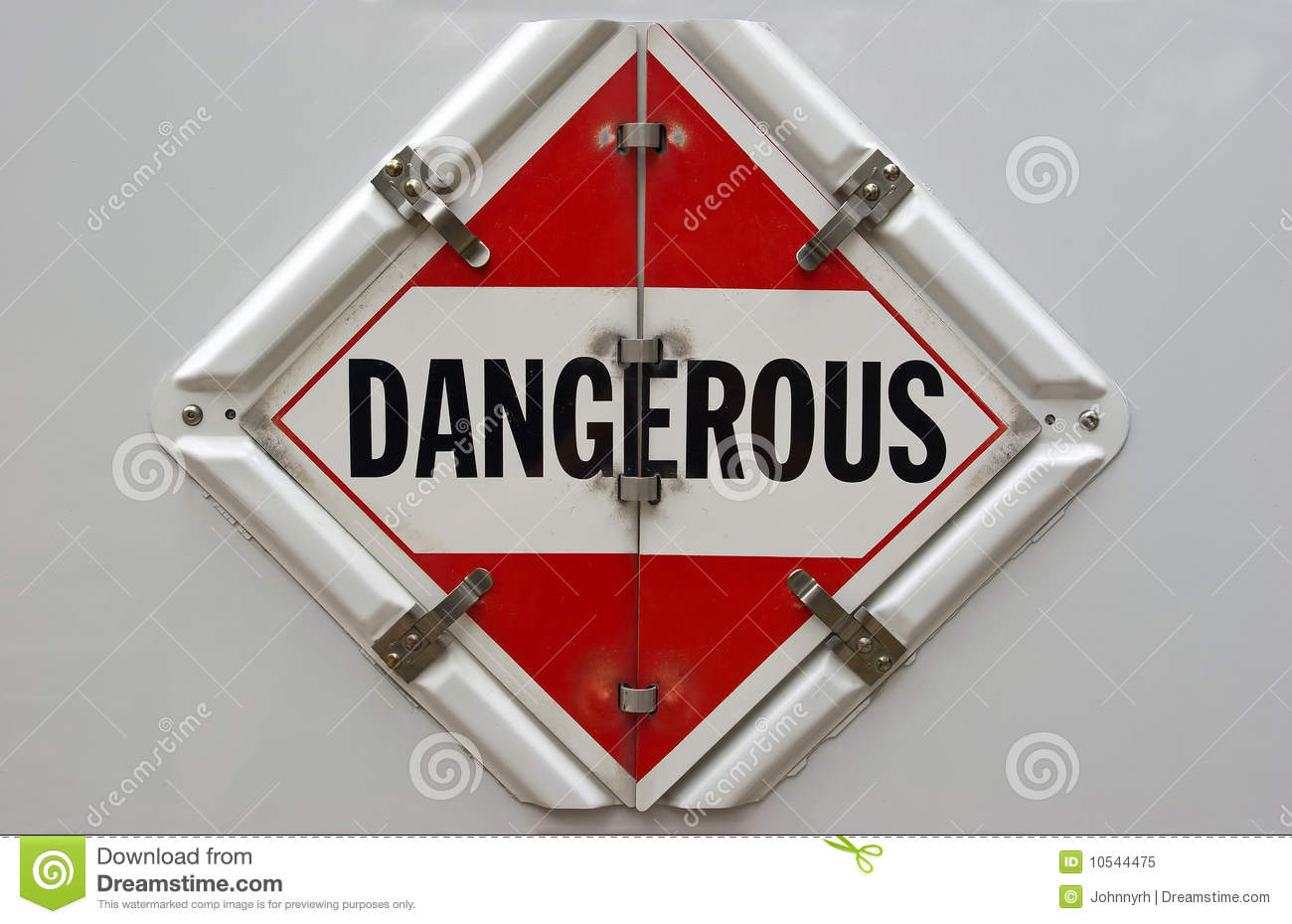 Dangerous Placard Royalty Free Stock Photo - Image: 10544475