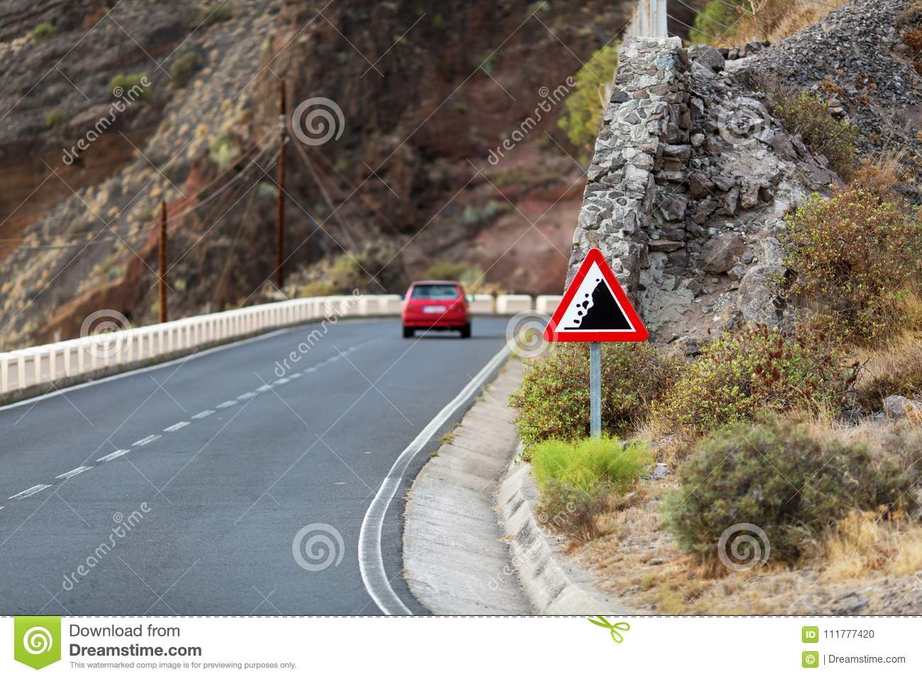 Dangerous road in the mountains.