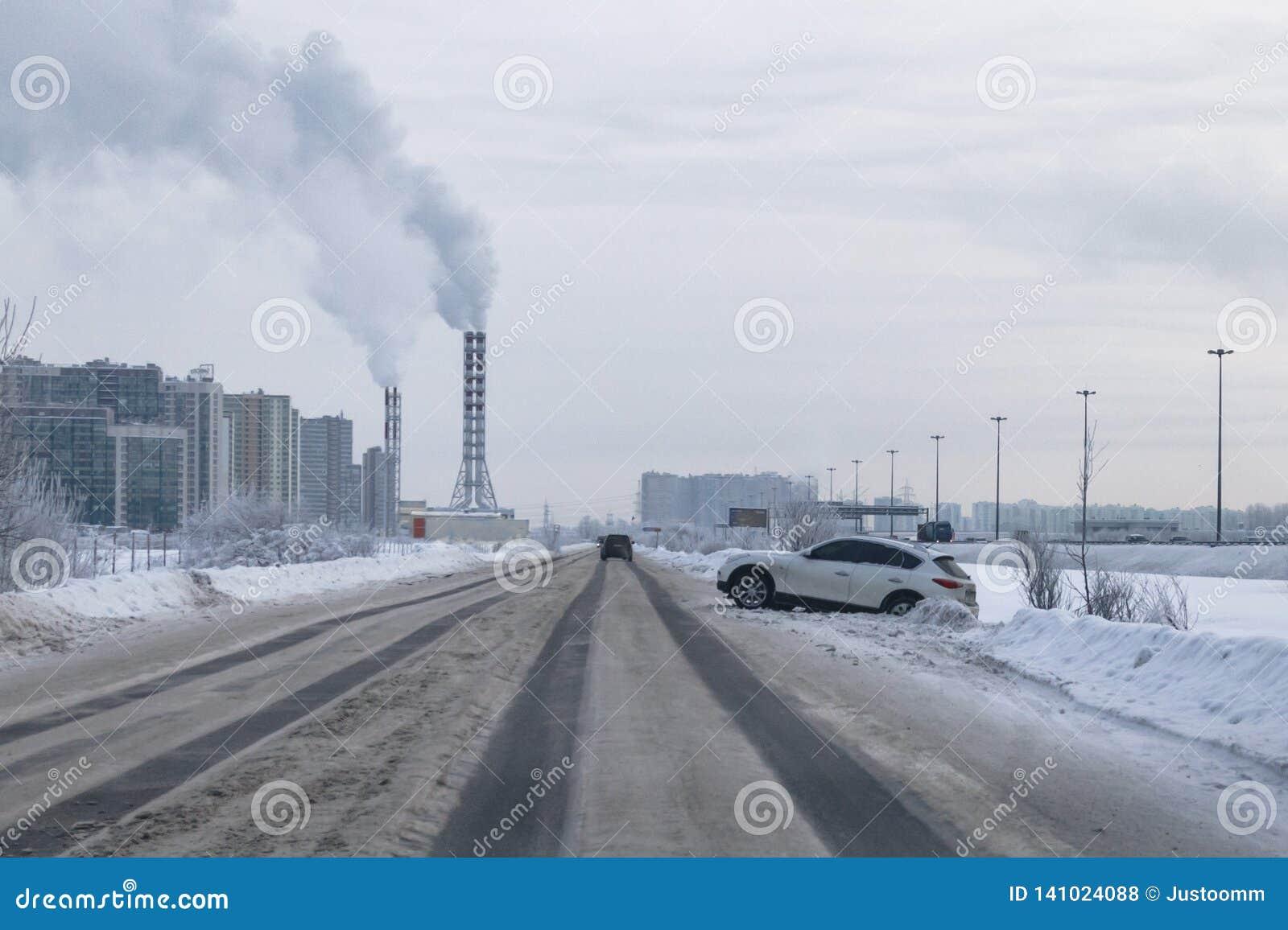 Dangerous roads in winter, traffic accidents in winter