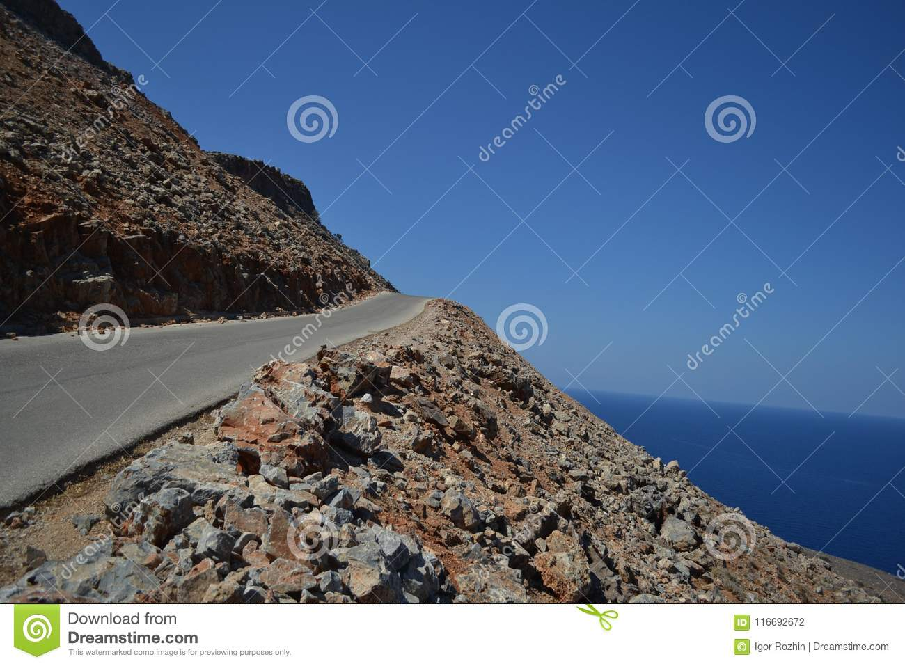 Dangerous Slope And Unreal Beauty Stock Photo - Image of
