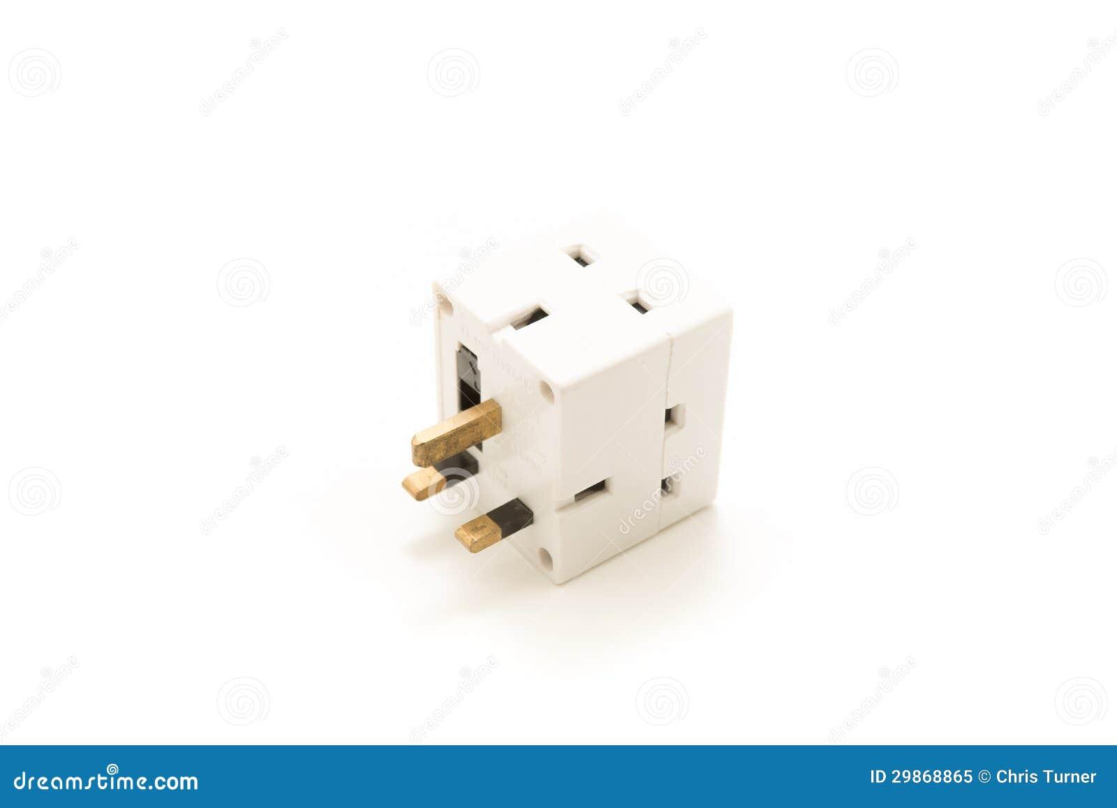 Dangerous Uk Plug Cube Plugging Multiple Three Pin Plugs One Socket