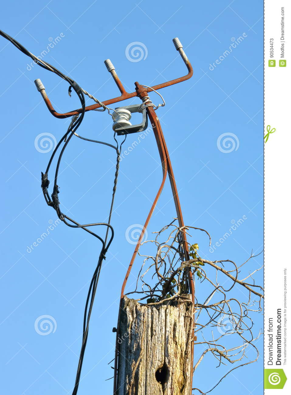 Dangerous Use Of Electric Wiring Stock Image - Image of ... on