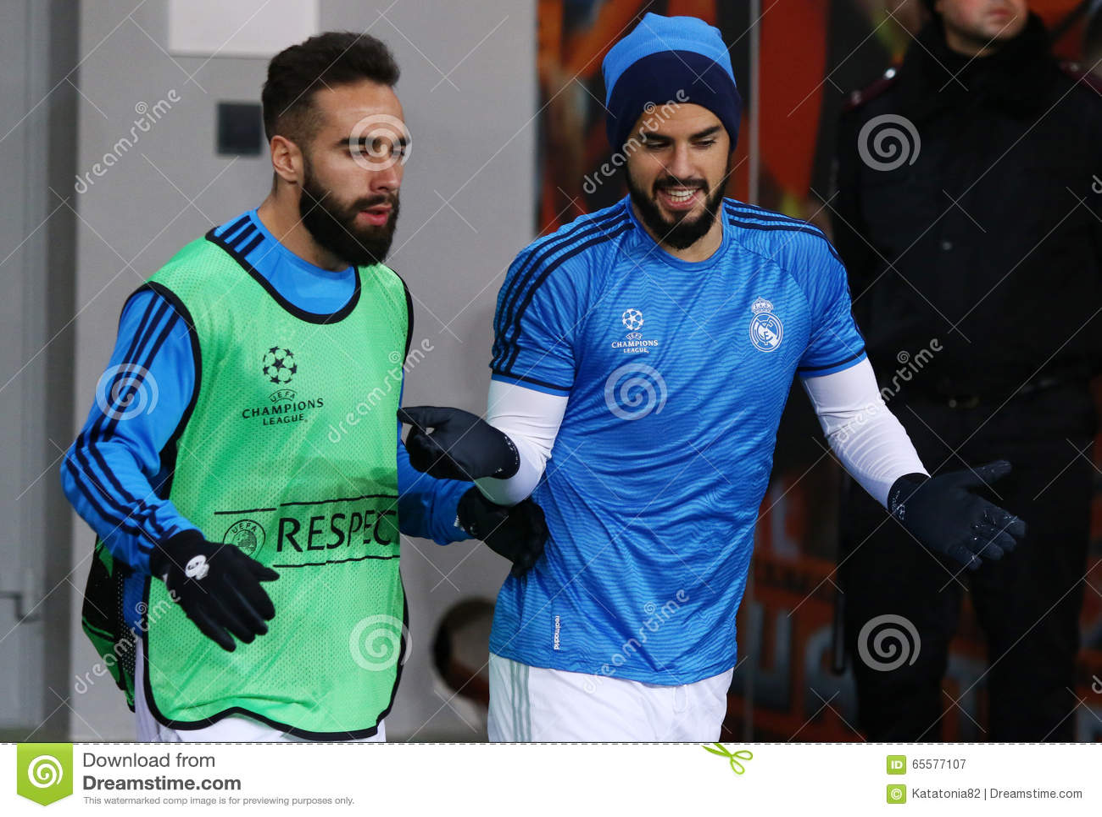 Dani Carvajal e Raphael Varane do Real Madrid