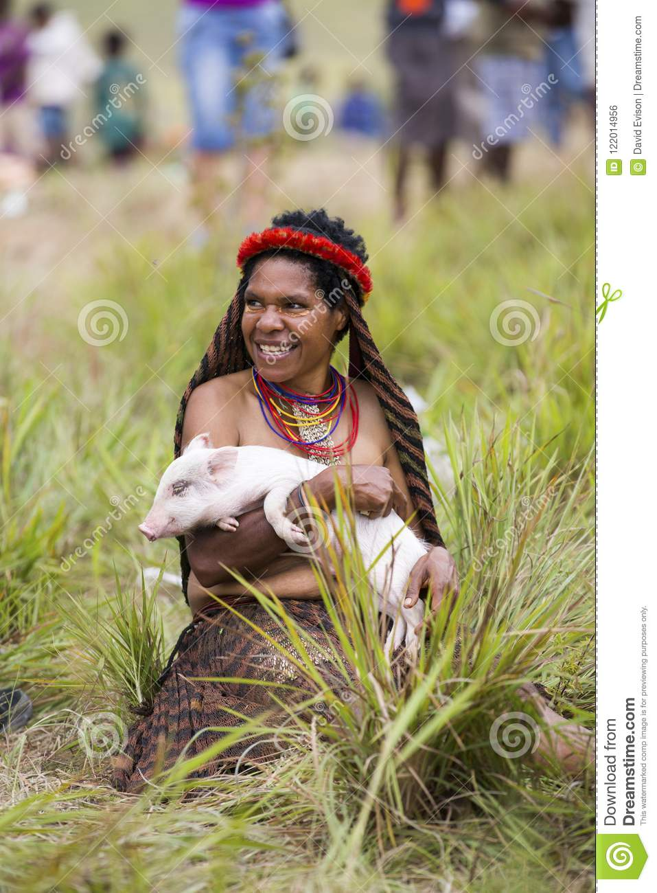 Dani tribes woman at the annual Baliem Valley Festival.