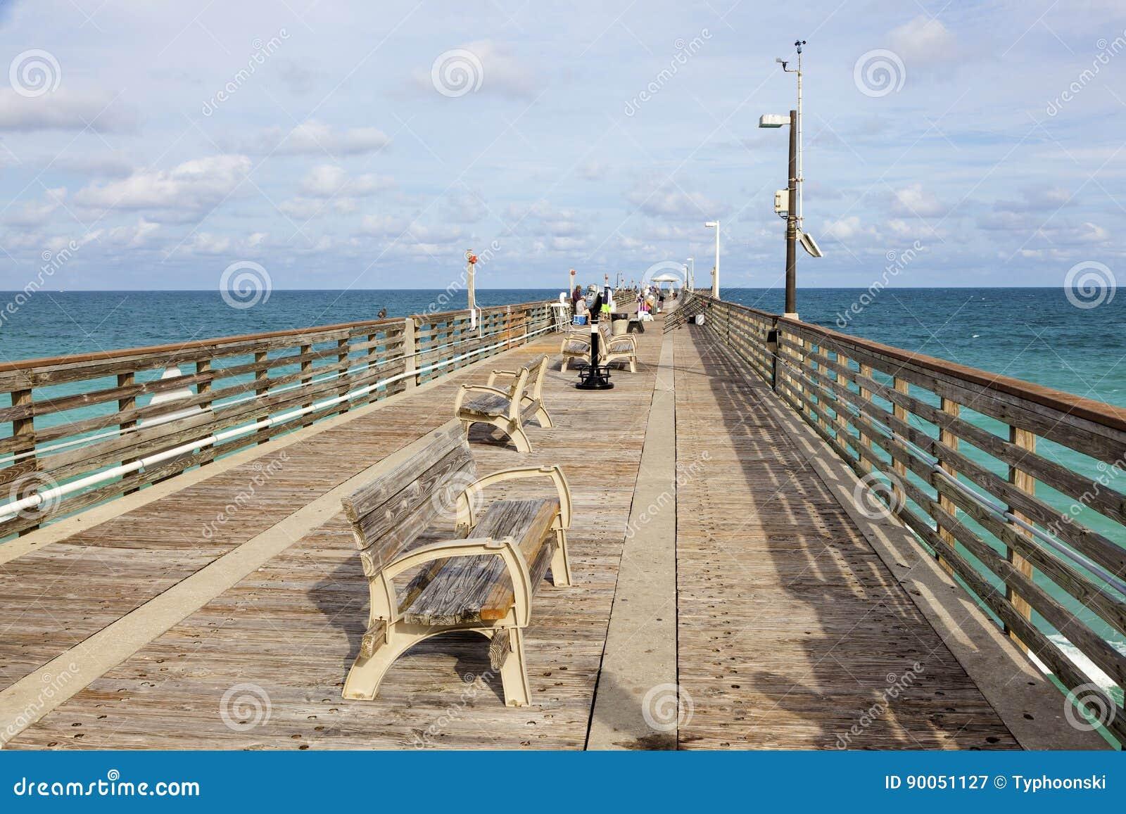 Dania Beach Fishing Pier Florida Editorial Photography Image Of