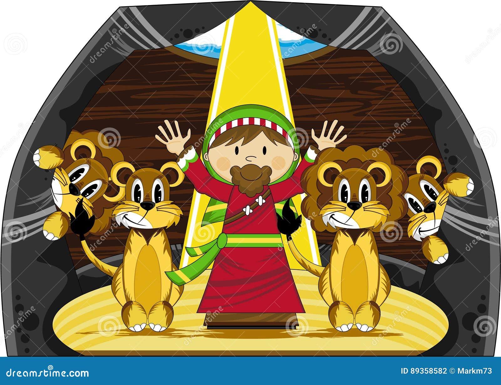 Daniel y los leones ilustración del vector. Ilustración de ...