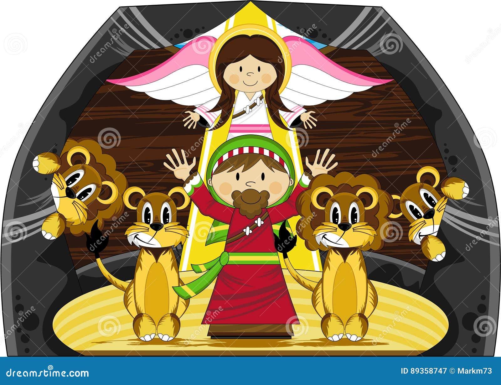 Daniel y los leones ilustración del vector. Ilustración de religioso ...