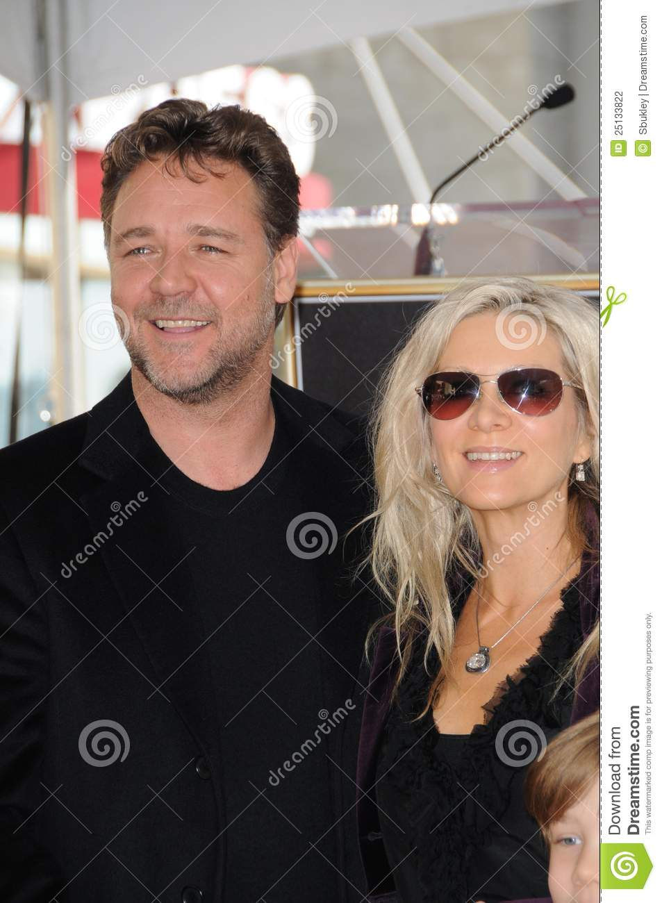 Danielle Spencer,Russell Crowe Editorial Photography - Image