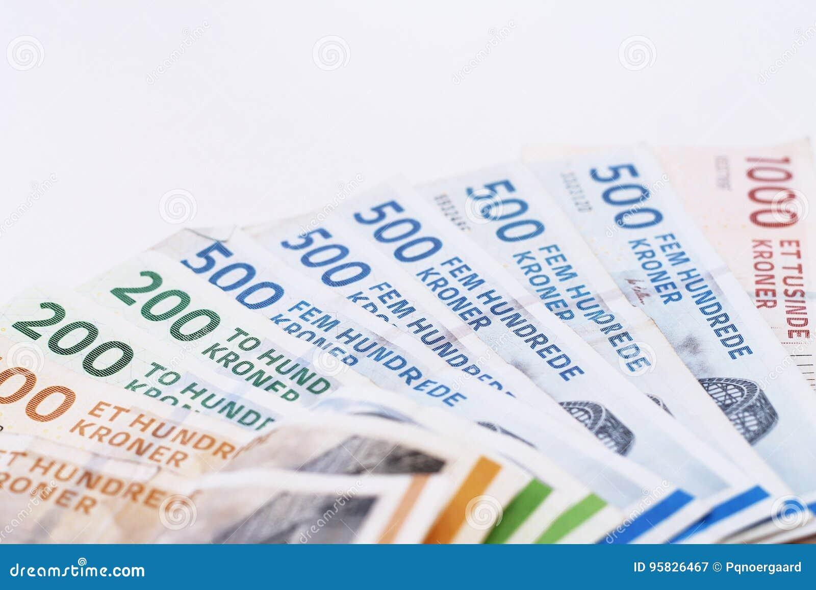 Danish Kroner bills