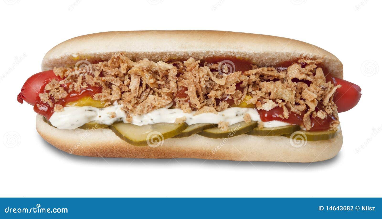 danish original hot dog stock photography image 14643682. Black Bedroom Furniture Sets. Home Design Ideas